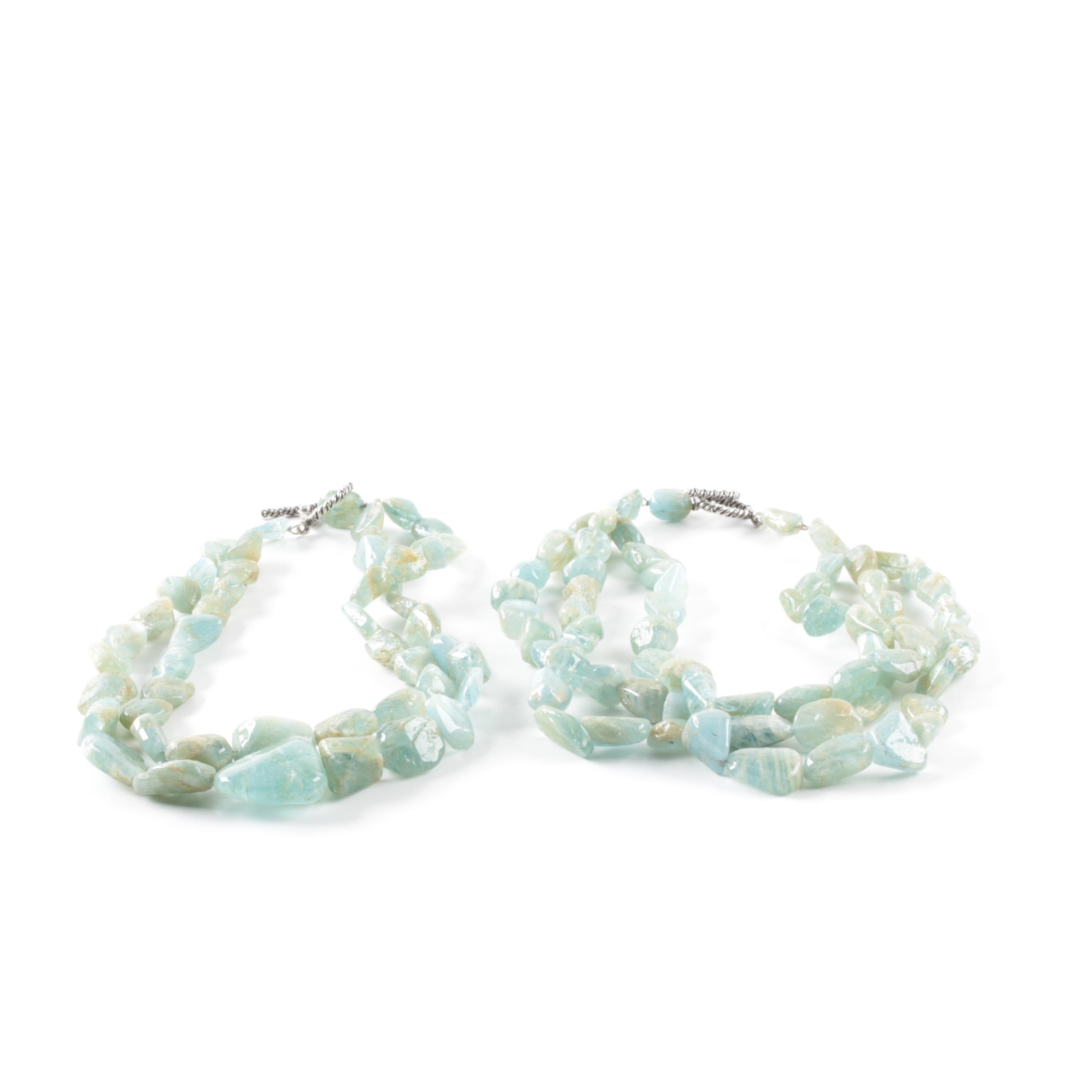 Sterling Silver Aquamarine Necklaces
