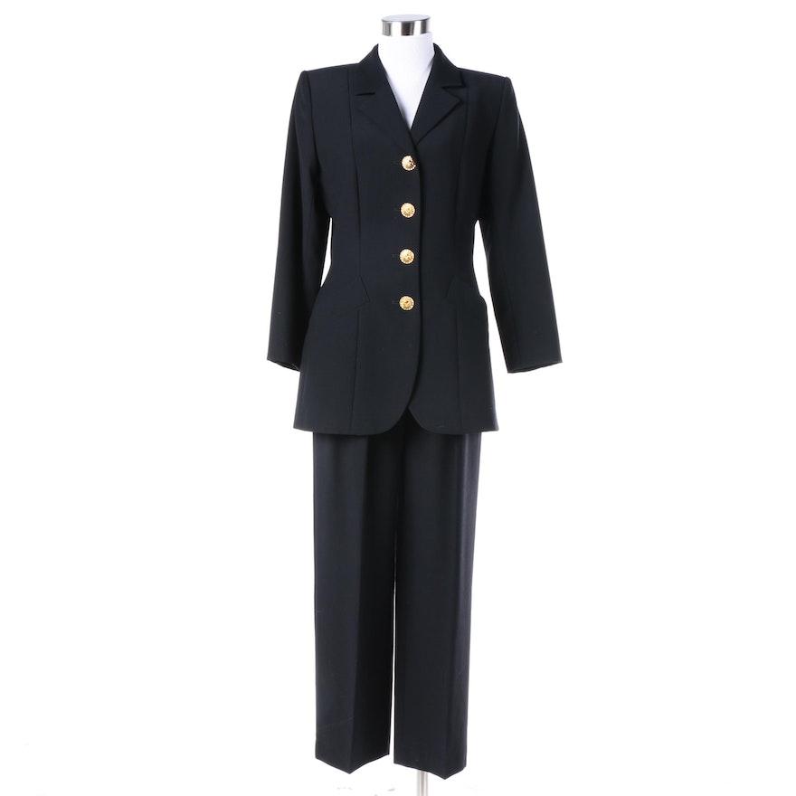 b157905d8db Women's Yves Saint Laurent Variation Black Wool Pantsuit, Made in France :  EBTH