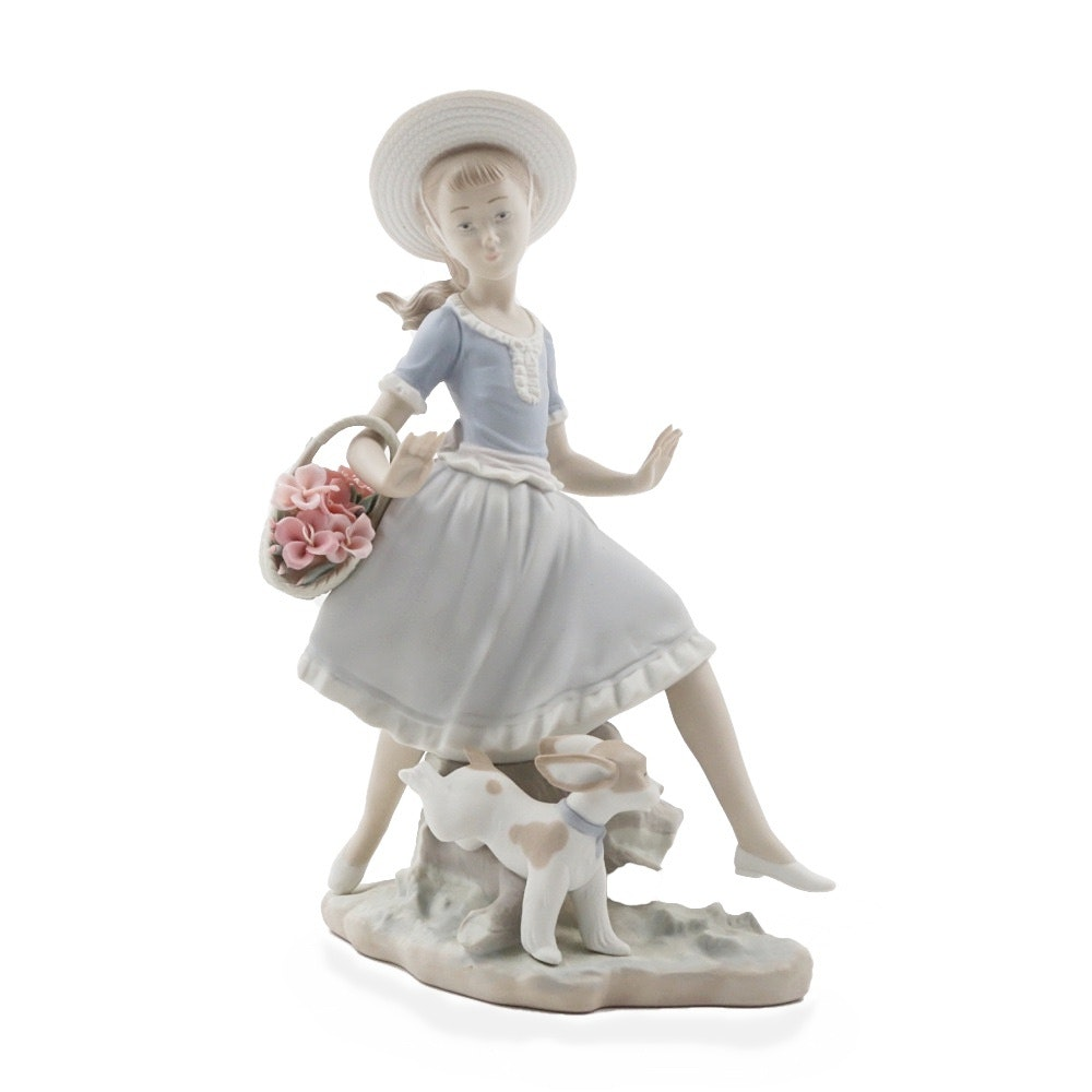 "Lladro ""Mirth In The Country"" Porcelain Figurine"