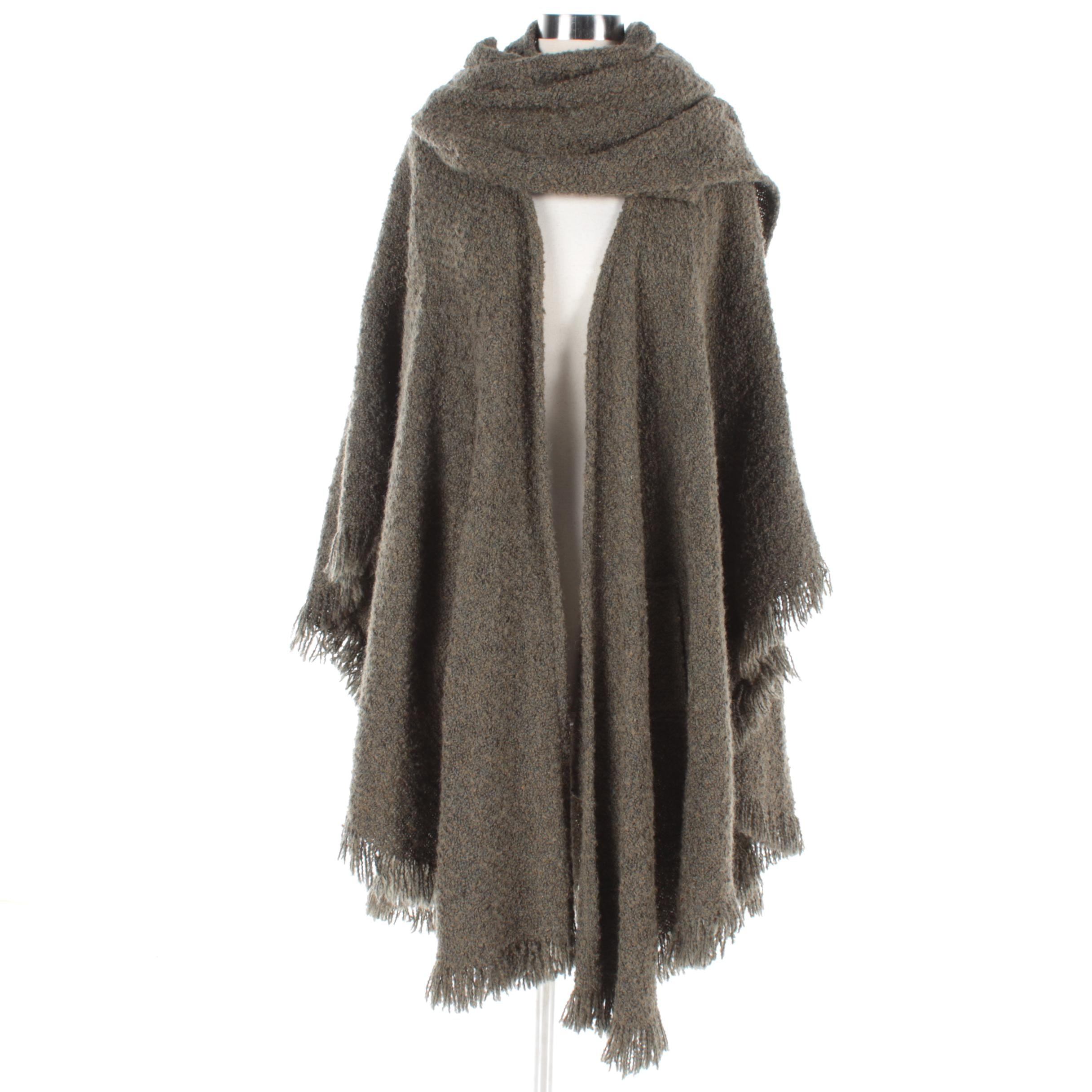 Women's Weave O' The Irish Olive Green Knit Wrap