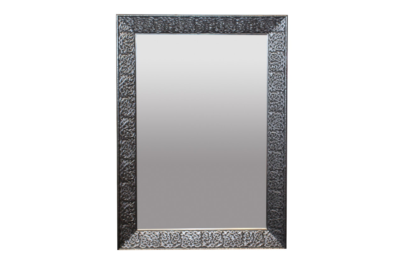 Foliate Carved Beveled Wall Mirror