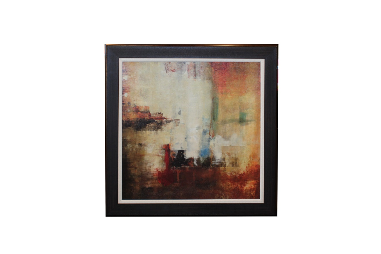 Framed Abstract Giclée after Contemporary Painting