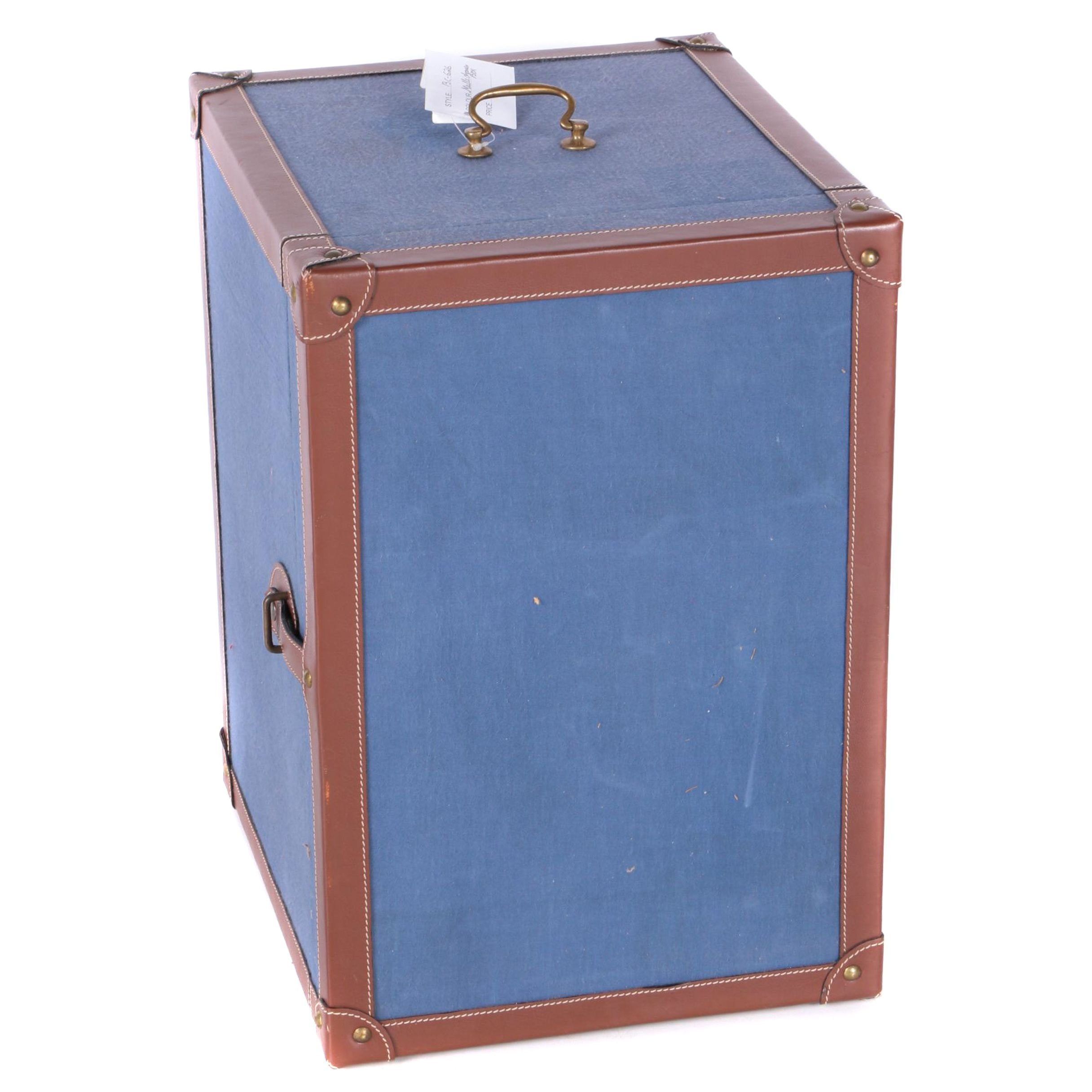 Leather Trimmed Canvas Accessory Chest