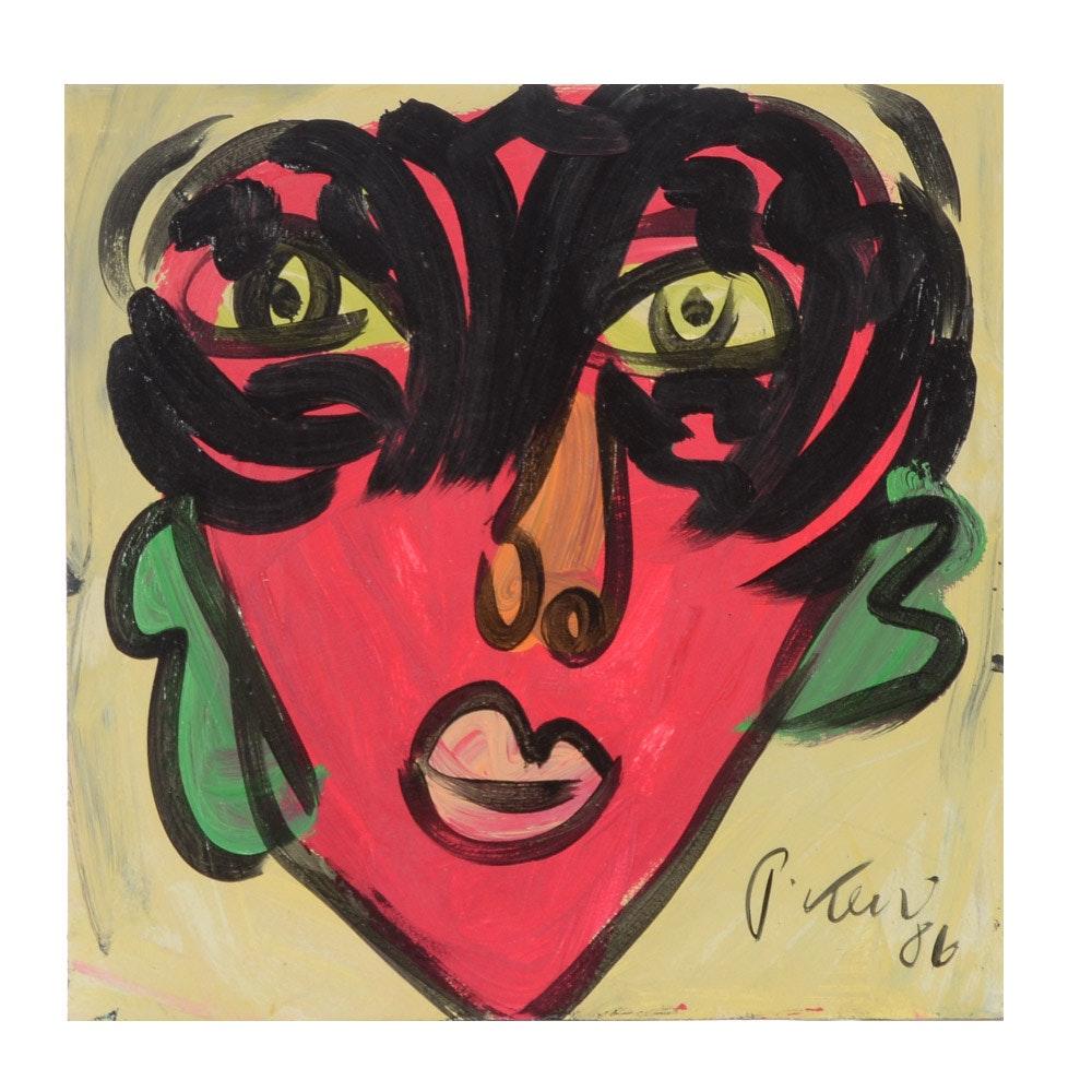 "Peter Keil Original Oil Painting ""A. Warhol"""
