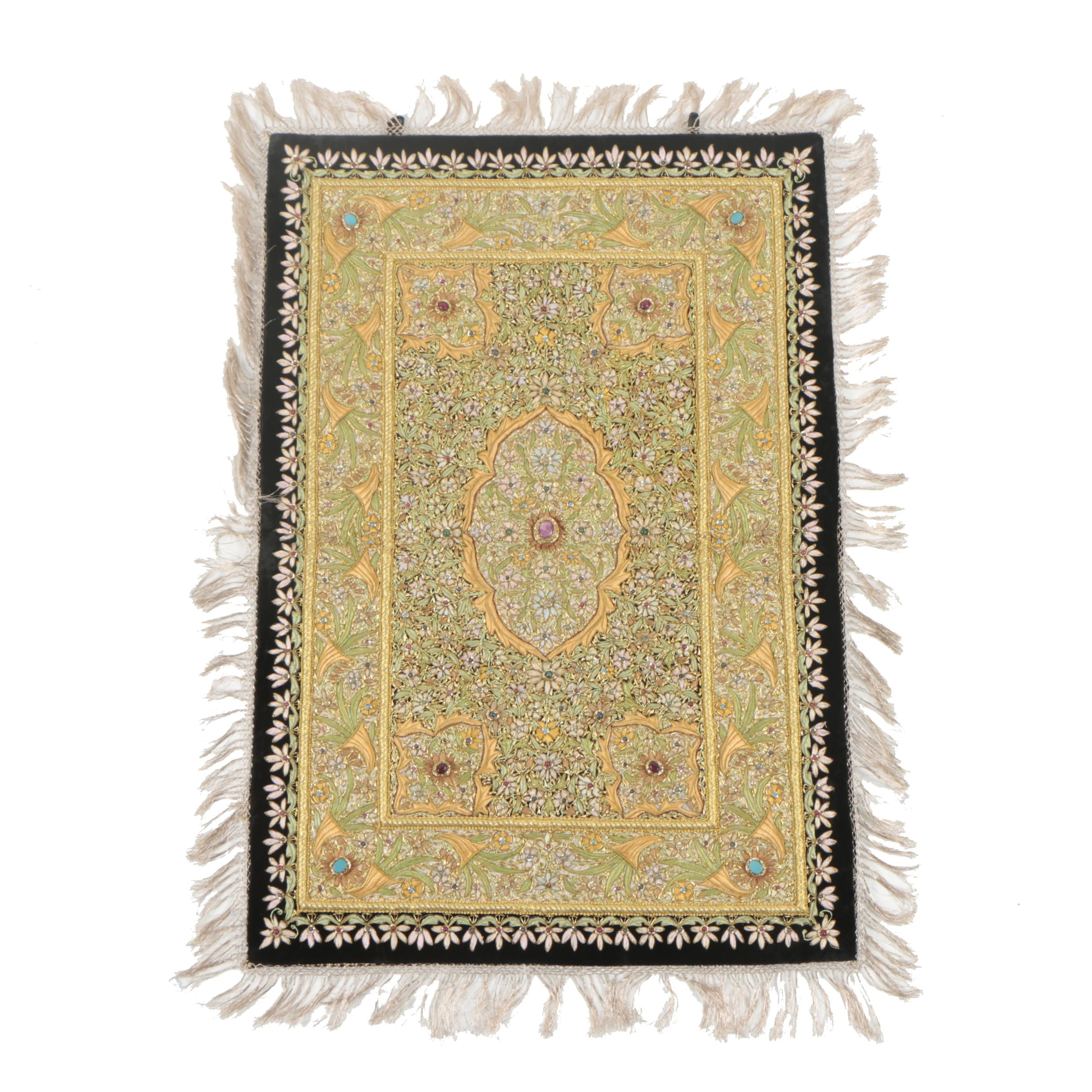 Indo-Persian Style Embroidered Tapestry