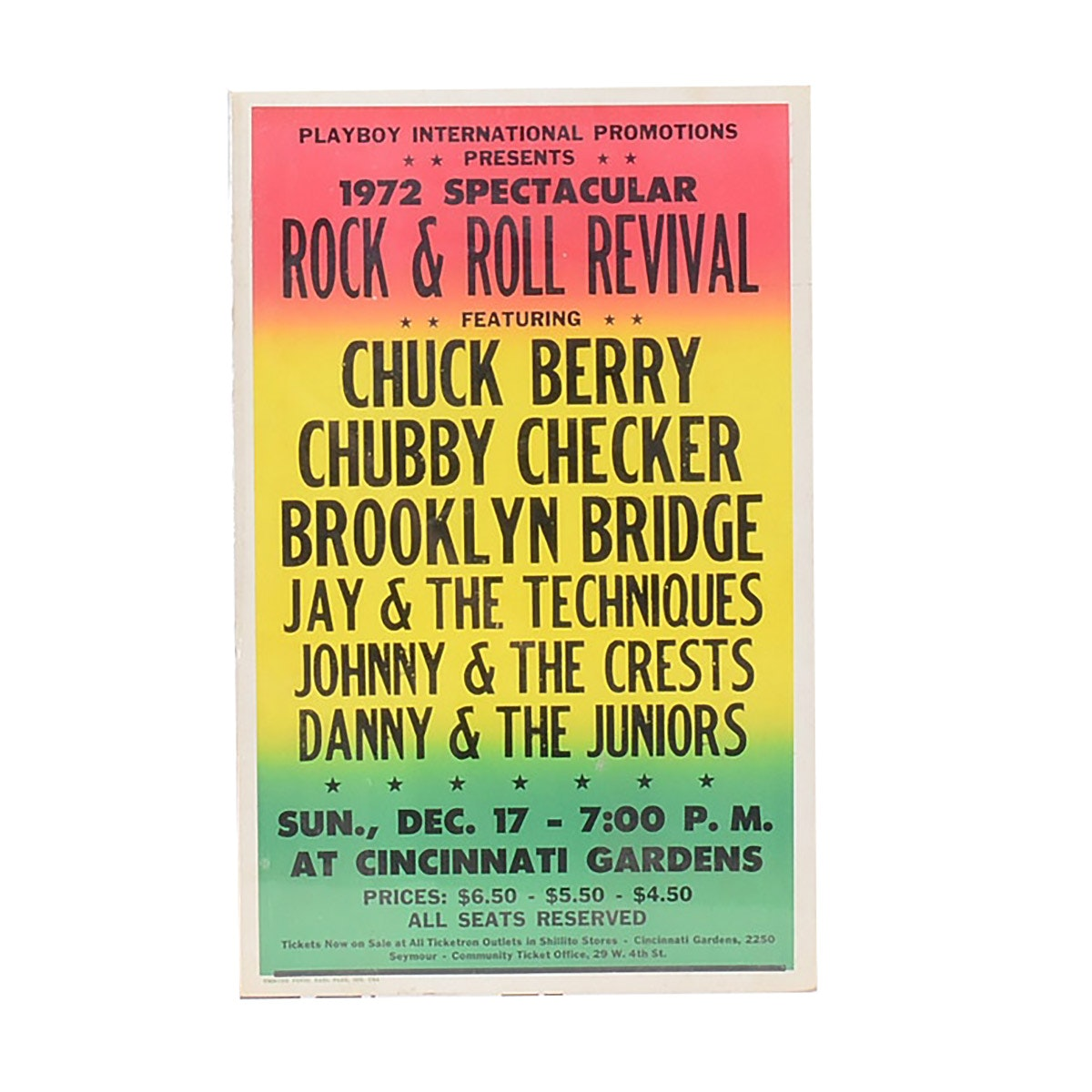 1972 Rock & Roll Revival Spectacular Tour Poster