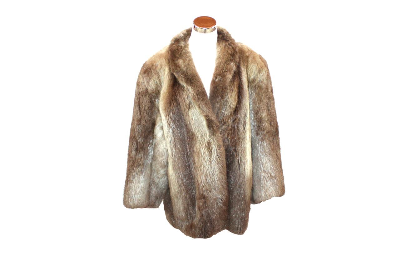 Keska Beaver Fur Coat
