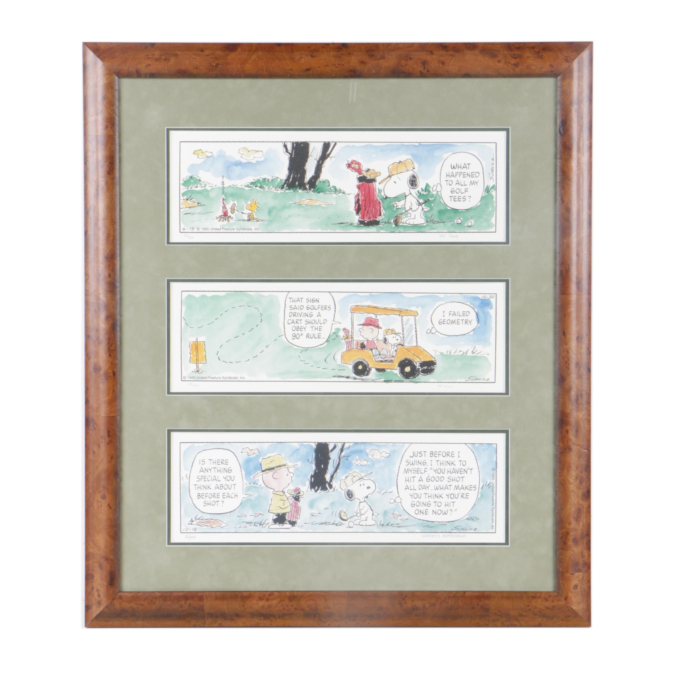 Offset Lithographic 1995 Limited Edition Peanuts Comic Strips