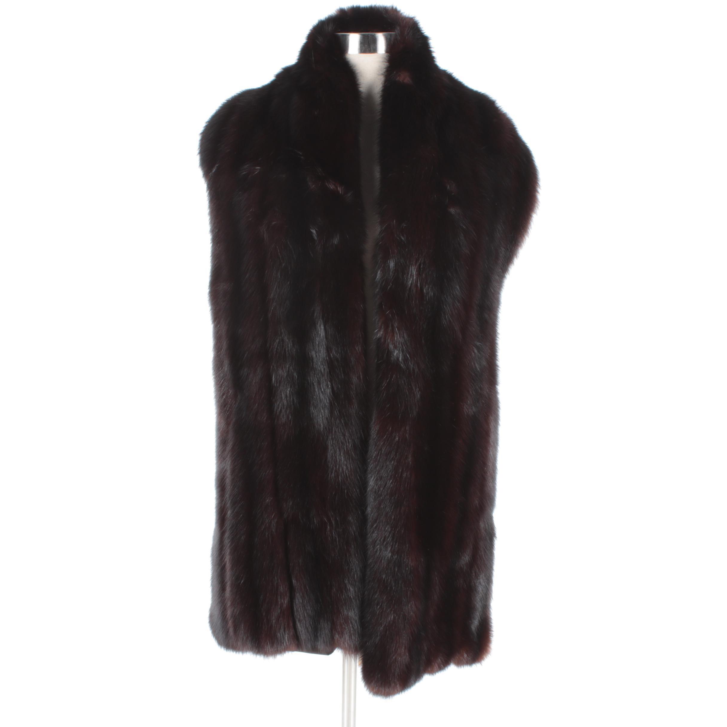 Vintage Dark Mahogany Mink Fur Wrap