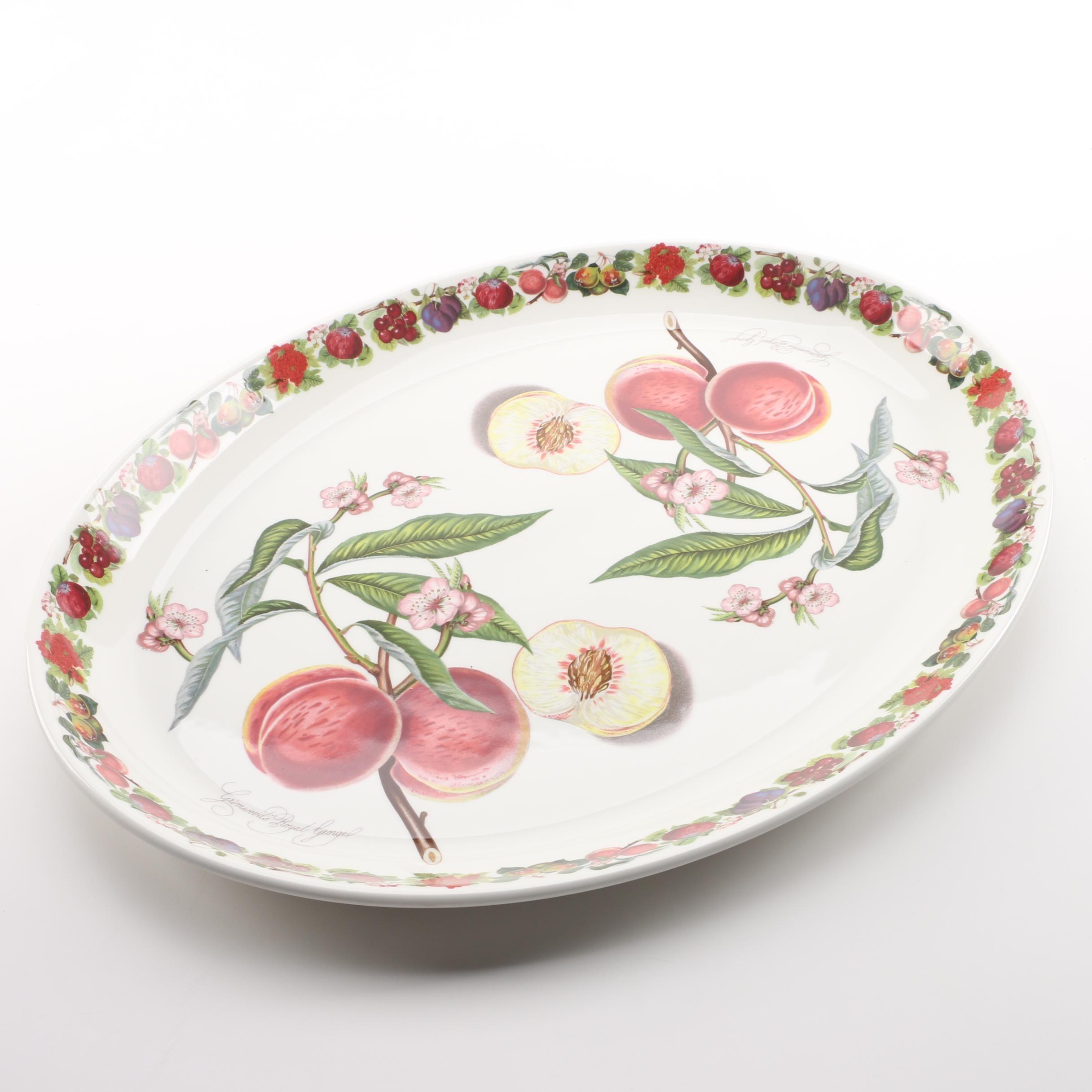 "Portmeirion Pomona ""Grimwoods Royal George Peach"" Porcelain Tray"