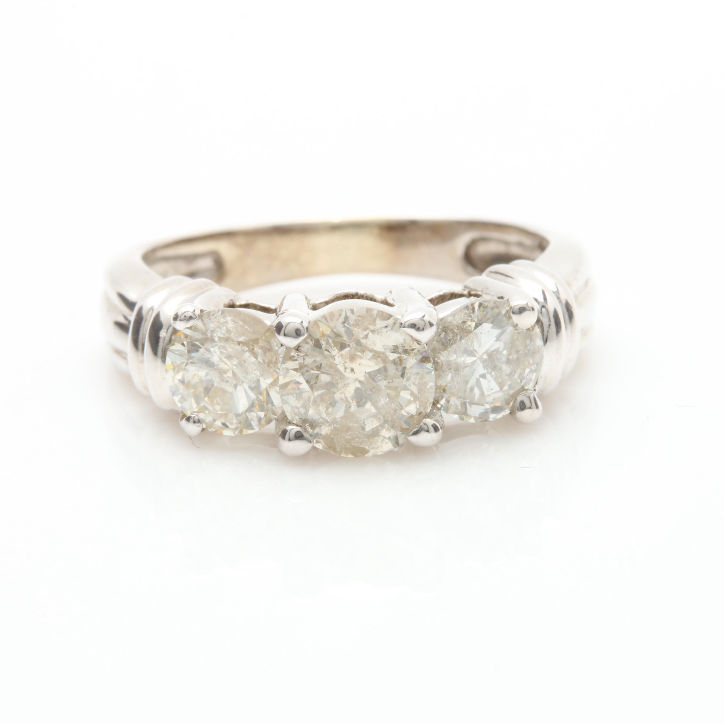 14K White Gold 1.45 CTW Diamond Ring