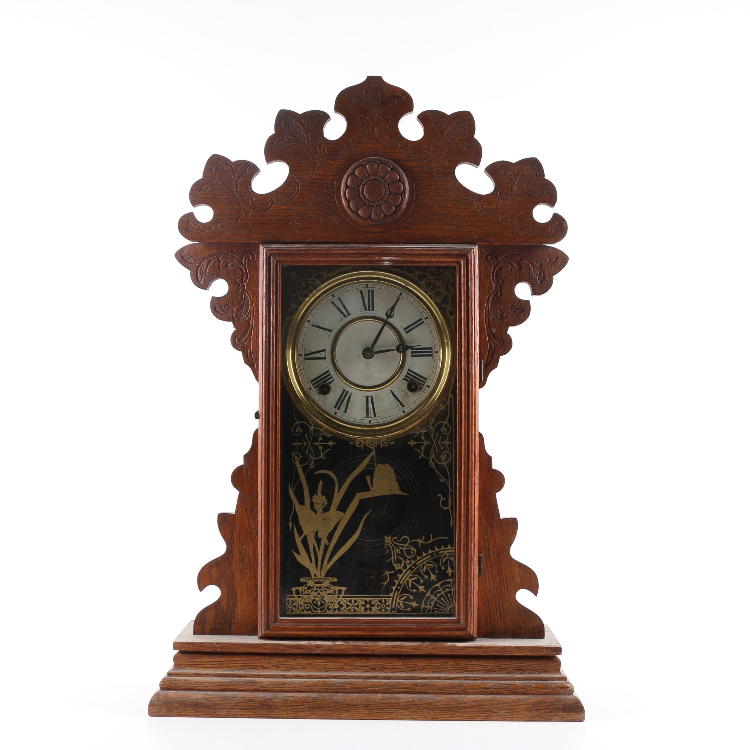 Vintage Welch Gingerbread Mantel Clock