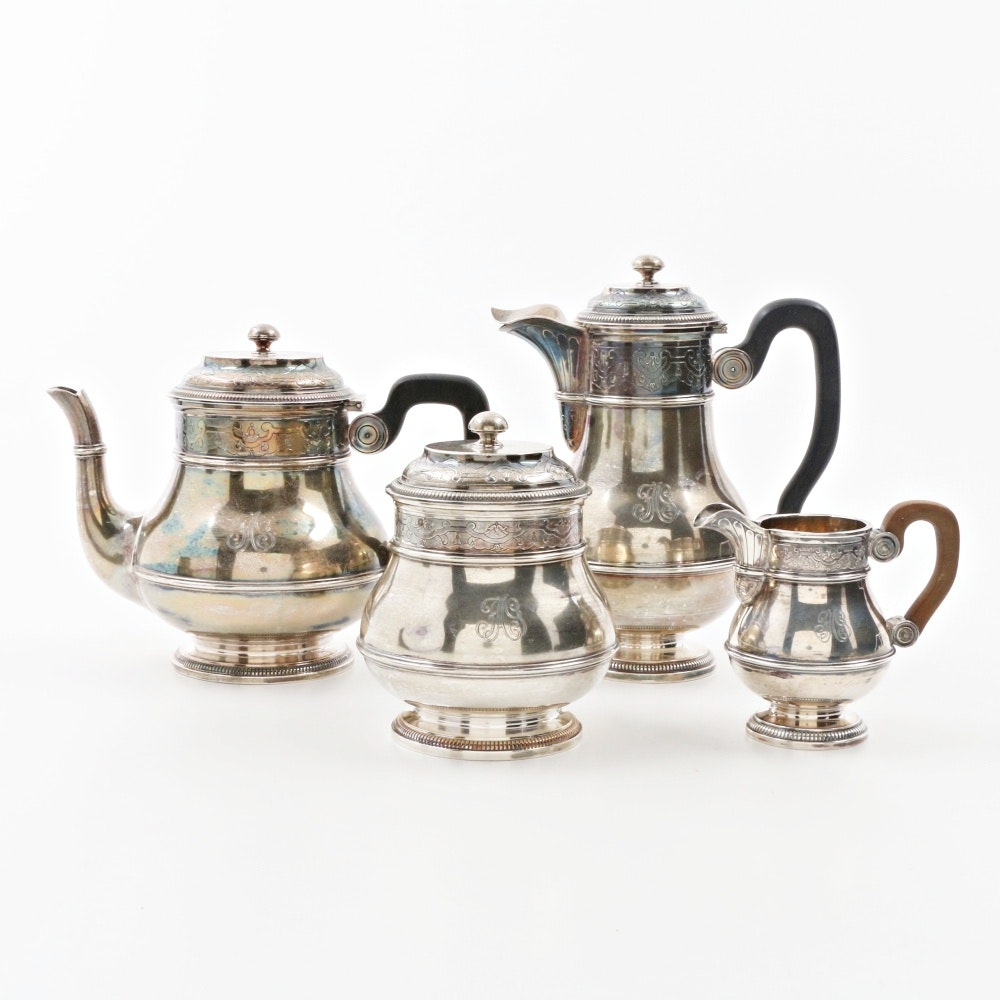 Auguste Leroy & Cie Diminutive French Sterling Silver Coffee and Tea Service