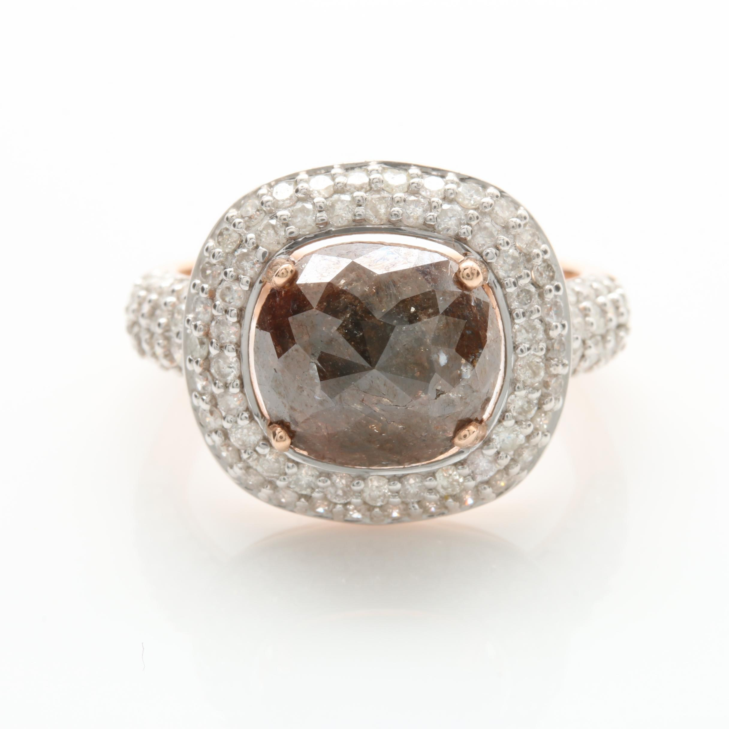 14K Rose Gold 1.72 CTW Diamond Ring