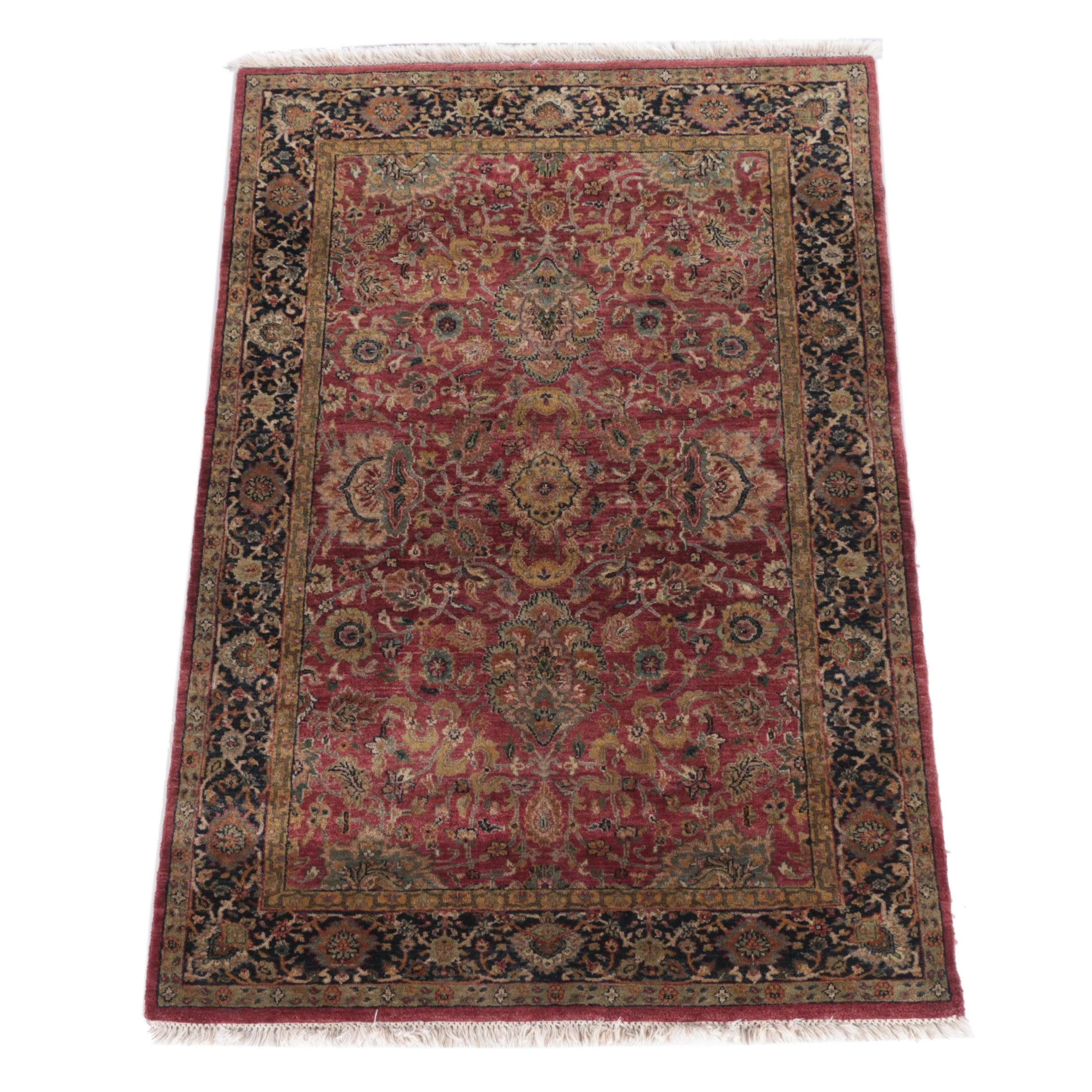 Hand-Knotted Turkish-Style Wool Area Rug