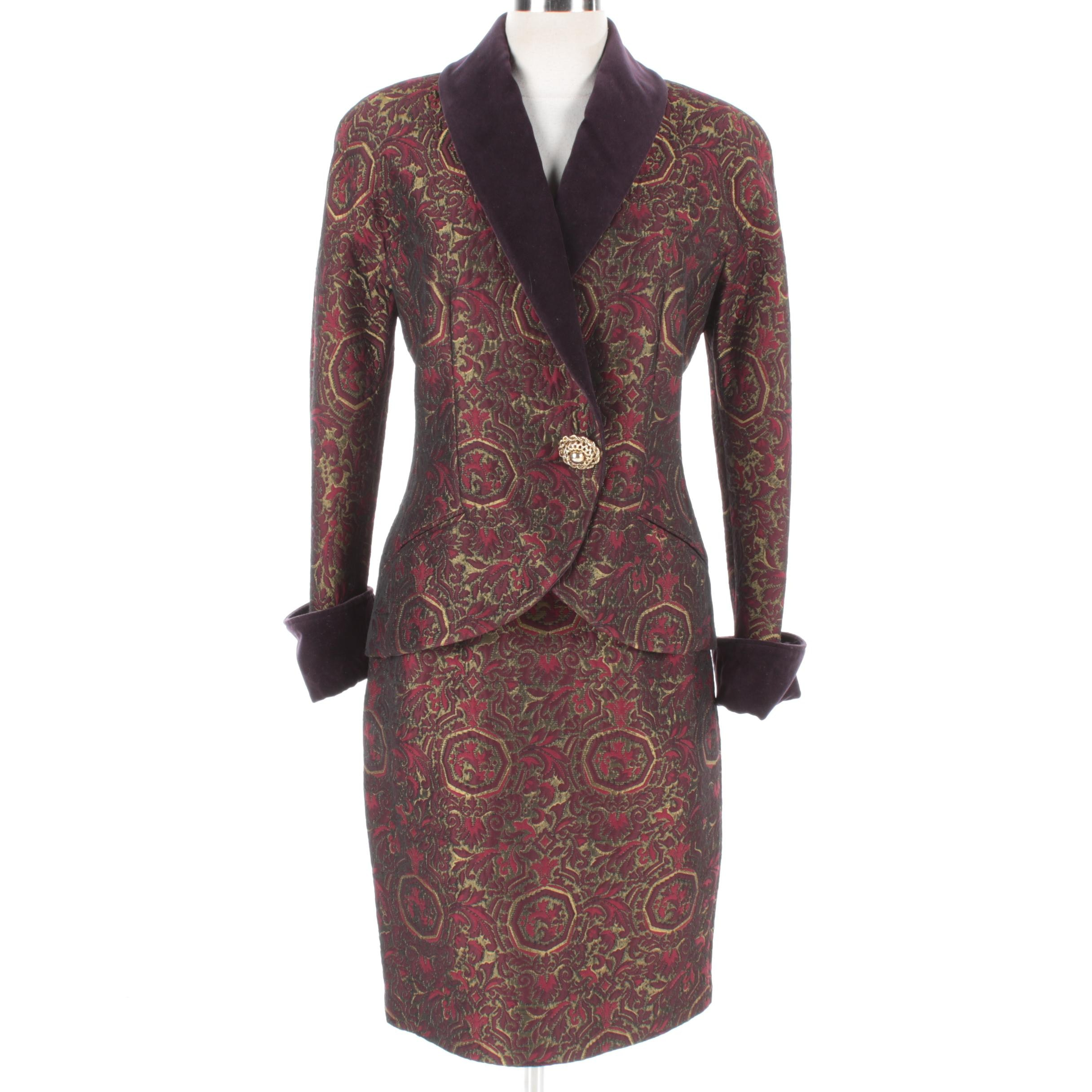 Genny Brocade Skirt Suit