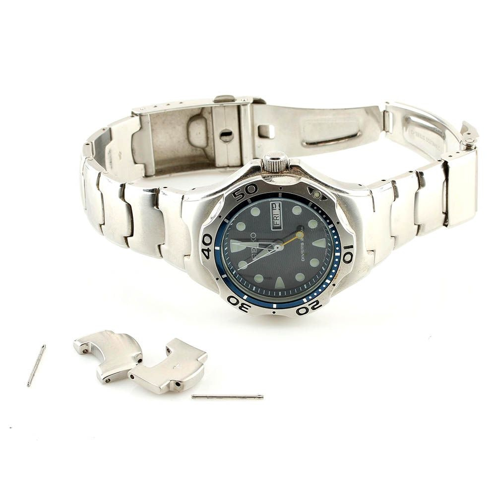 Seiko Stainless Steel Diver's Wristwatch