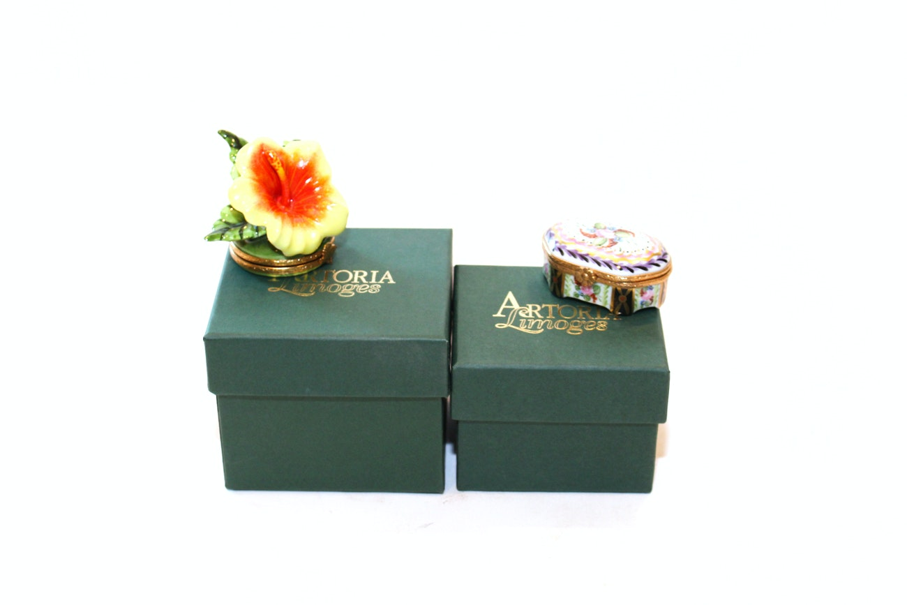 Limited Edition Astoria Limoges Trinket Boxes