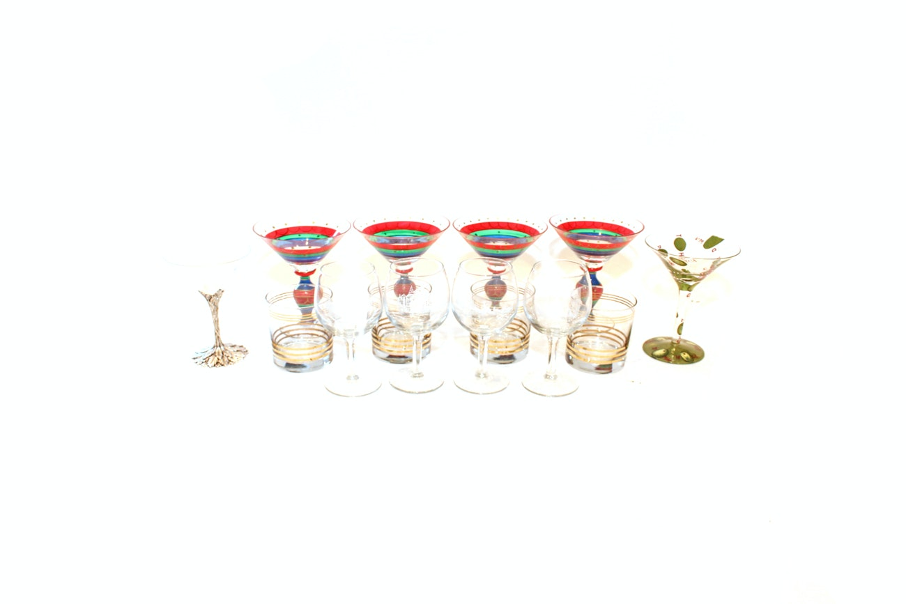 Assorted Glassware Collection