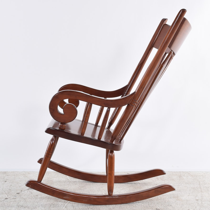 Vintage American Empire Style Rocking Chair Ebth