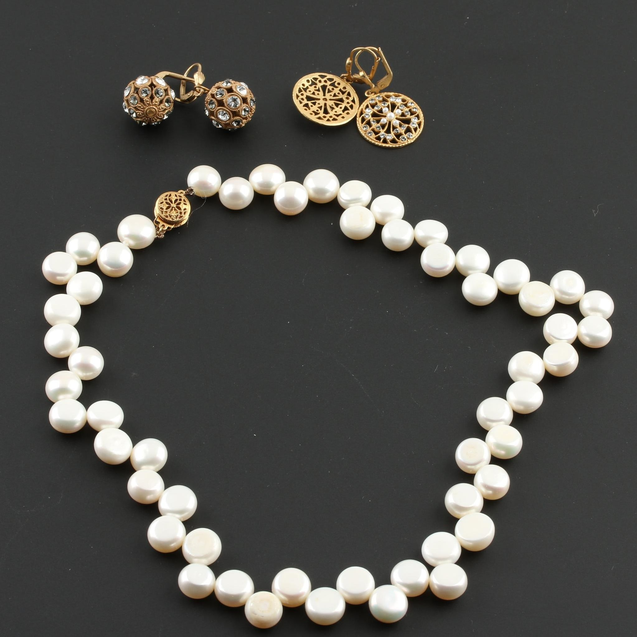 Costume Jewelry With Imitation and Cultured Pearls
