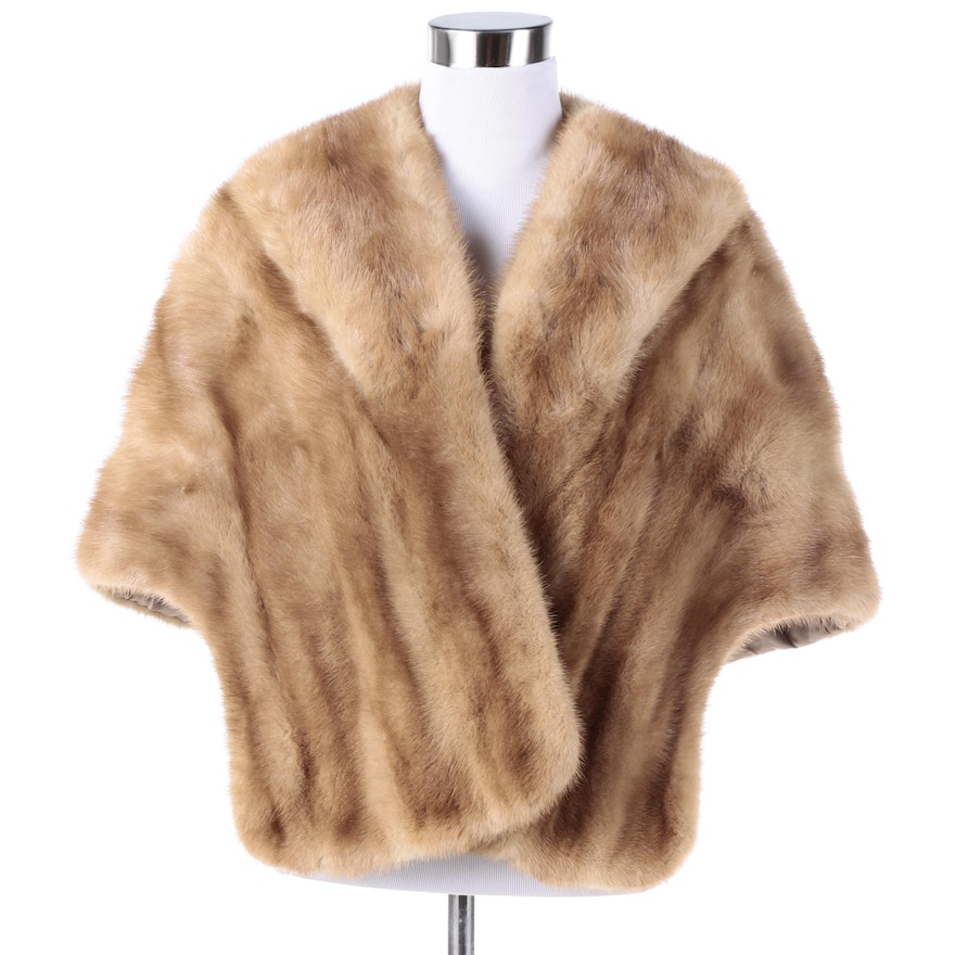 Big Sale Cheap Price Free Shipping For Cheap Fur Mink Shawl-Lapel Stole Clearance Fashion Style Free Shipping Best uDQ77Ax6A