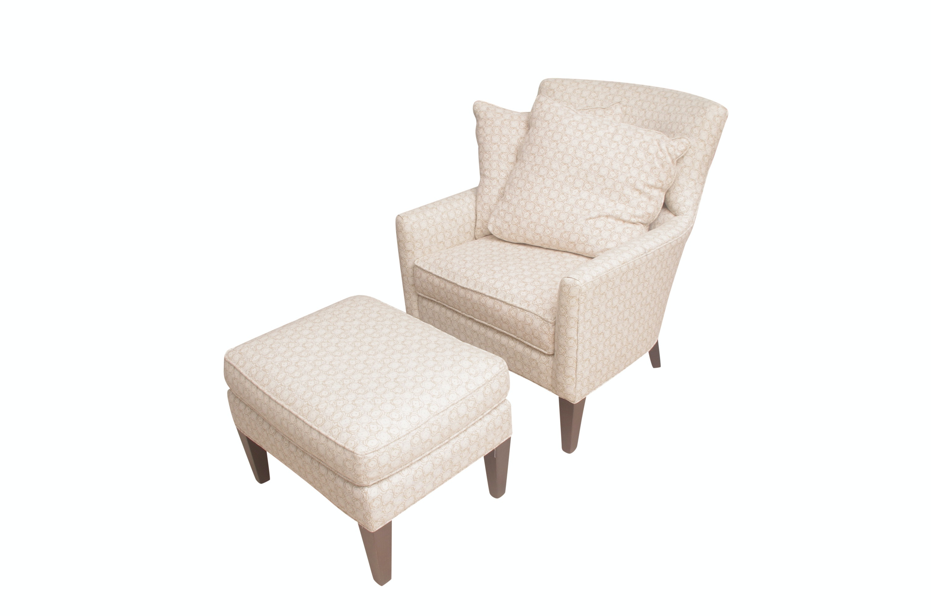 Arhaus Contemporary Armchair with Ottoman