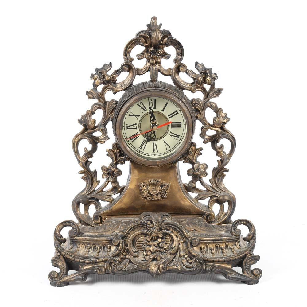 Rococo Inspired Mantel Clock