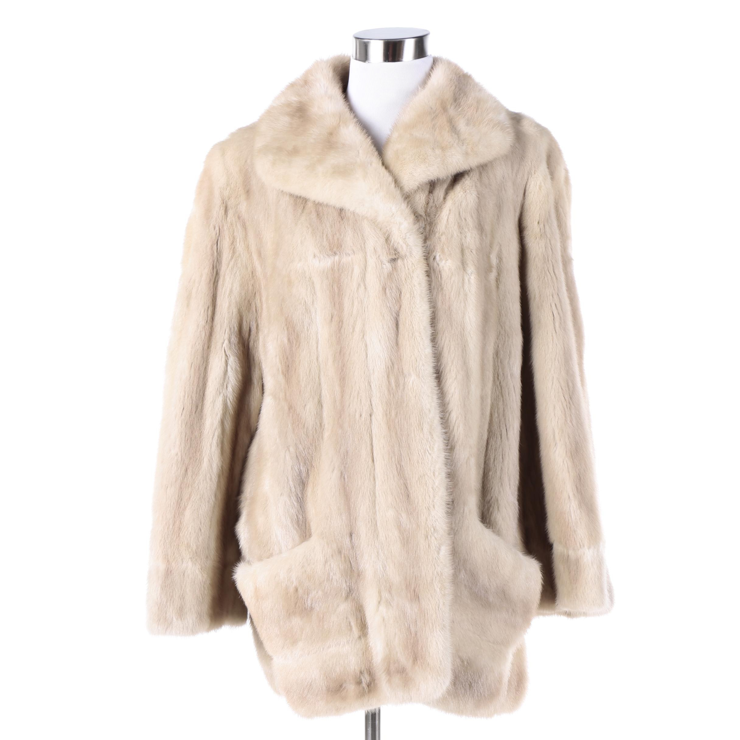 Vintage Blonde Mink Fur Coat