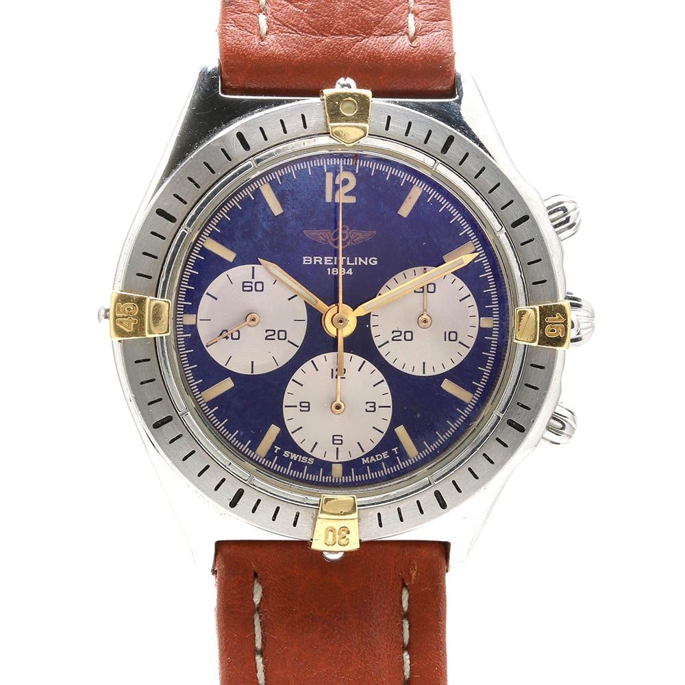 "Two Tone Breitling ""Callisto"" Chronograph Wristwatch"