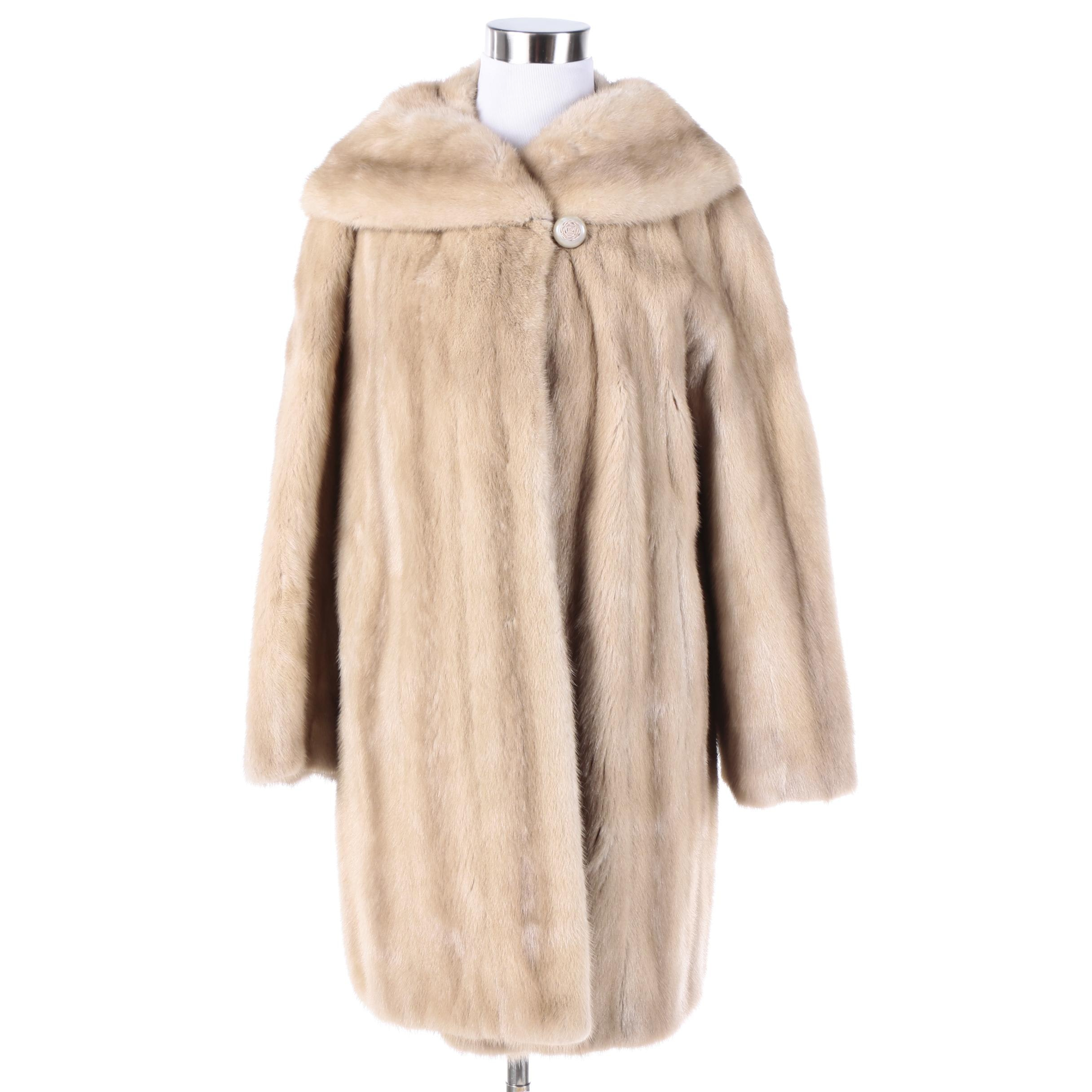 Vintage Schumacher Blonde Mink Fur Coat