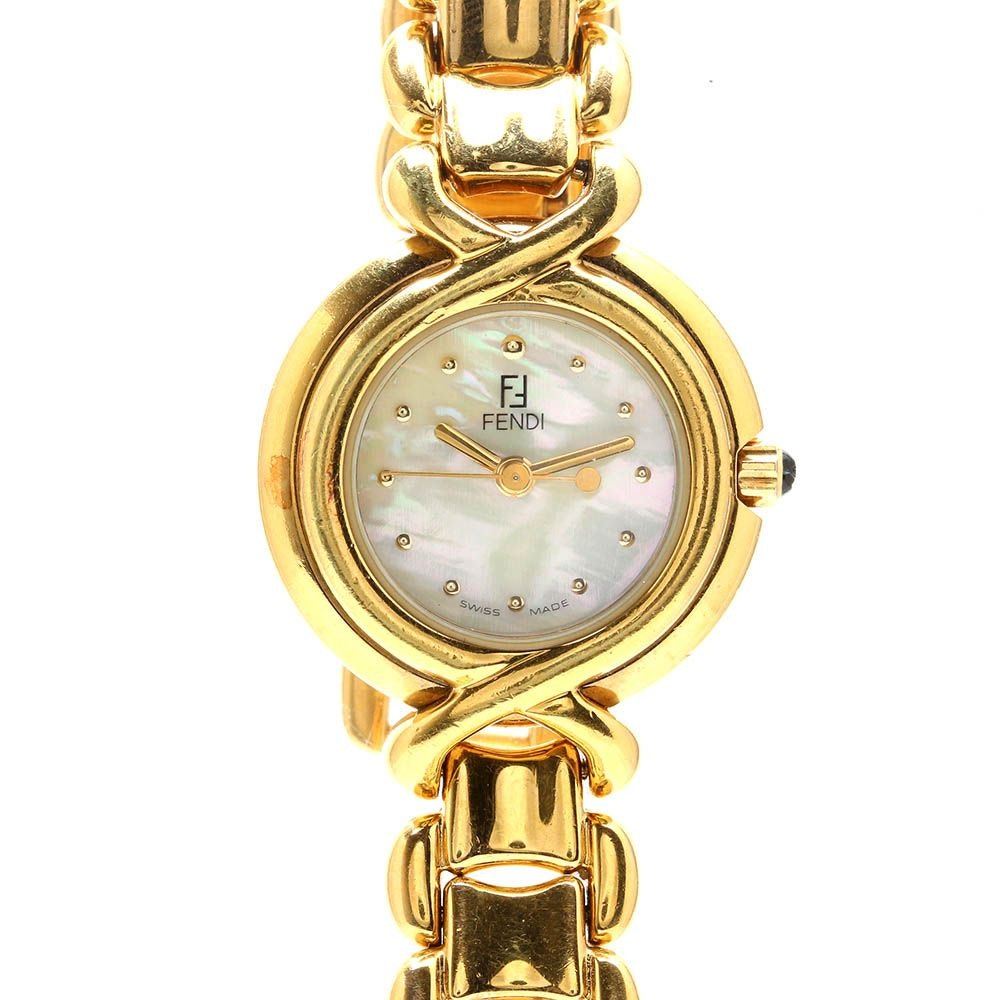 Gold Tone Fendi Wristwatch