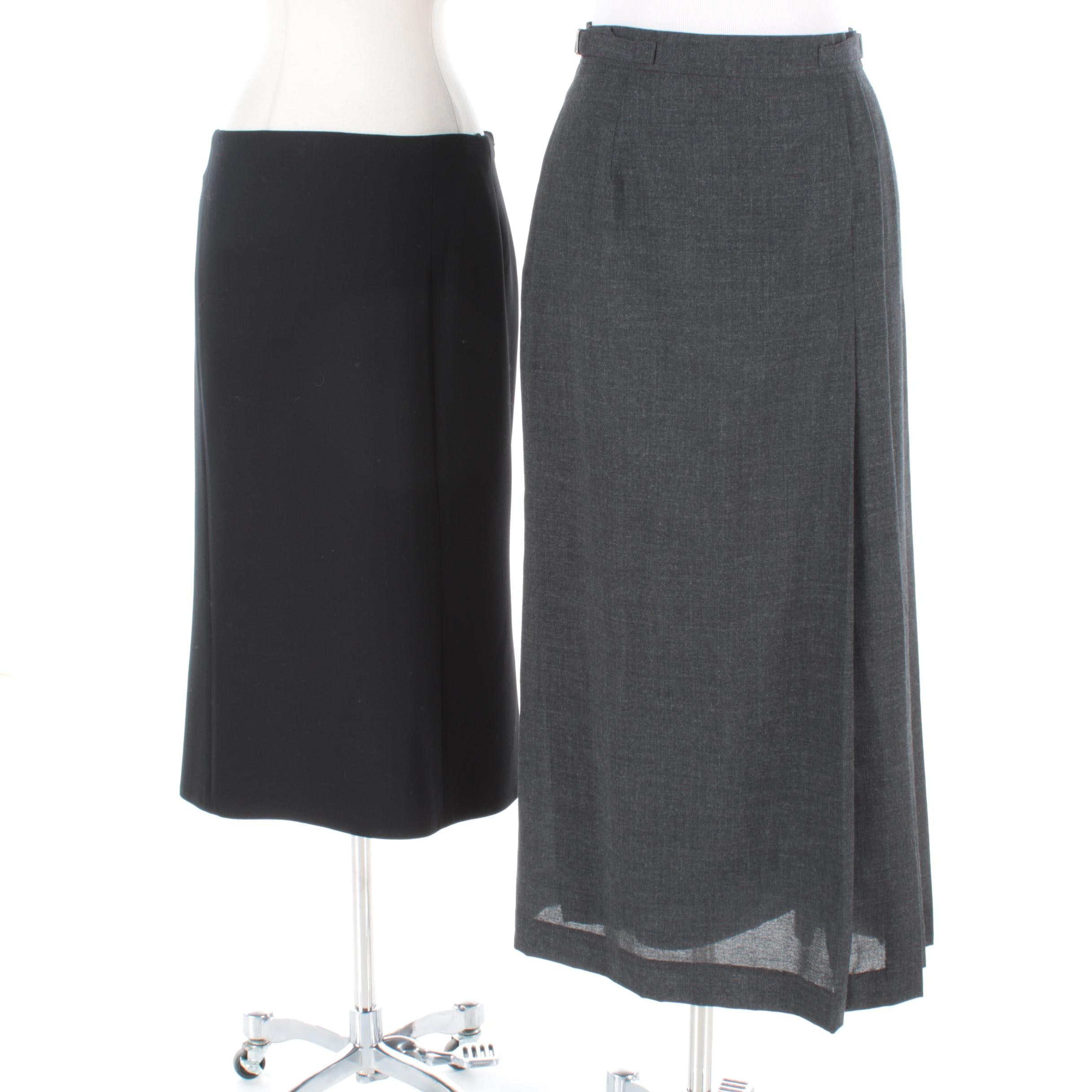 Ralph Lauren Black Label and Louis Féraud Wool Skirts