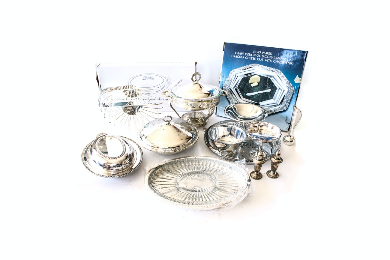 Generous Collection of Silver Plated Serveware