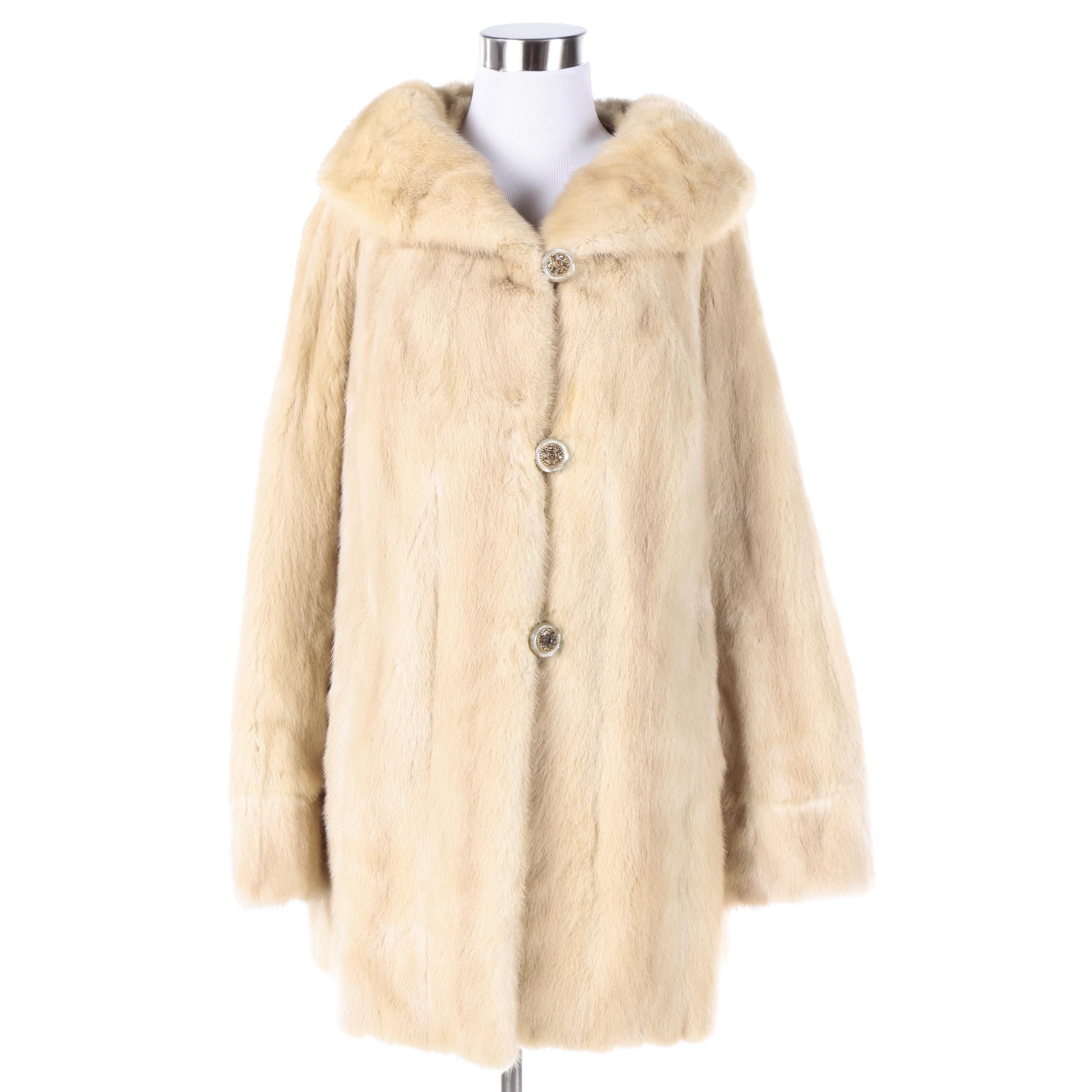 Vintage Bloom Furs Blonde Mink Fur Coat