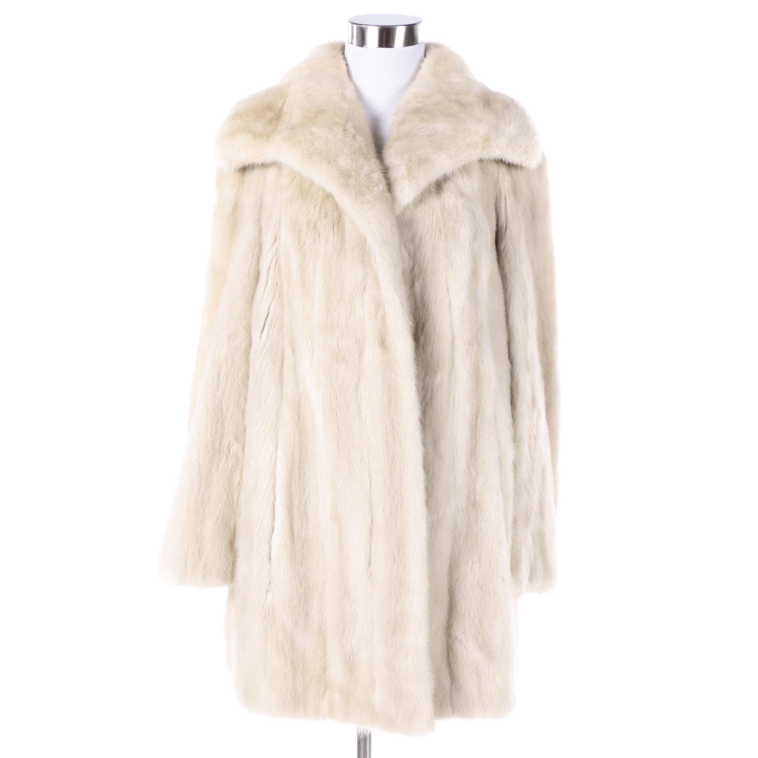 Vintage Ronley Platinum Mink Fur Coat