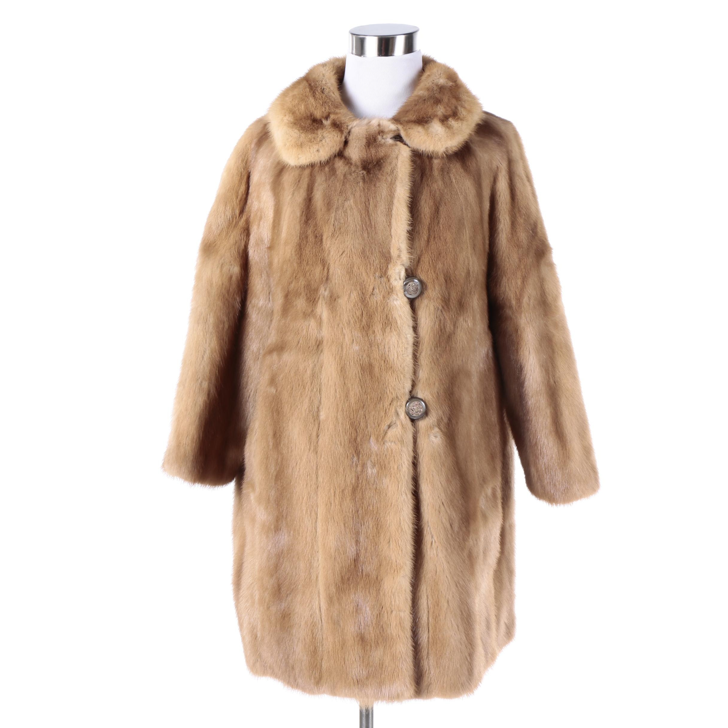 Vintage Chudiks' of Milwaukee Mink Fur Coat