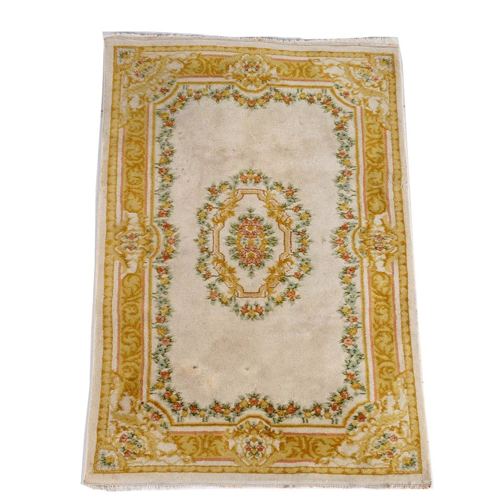 Hand-Knotted Indo-Chinese Savonnerie Style Area Rug