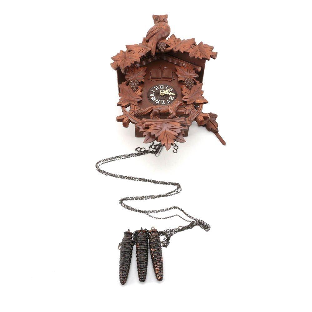 """Edelweiss """"Happy Wanderer"""" Wooden Cuckoo Clock"""