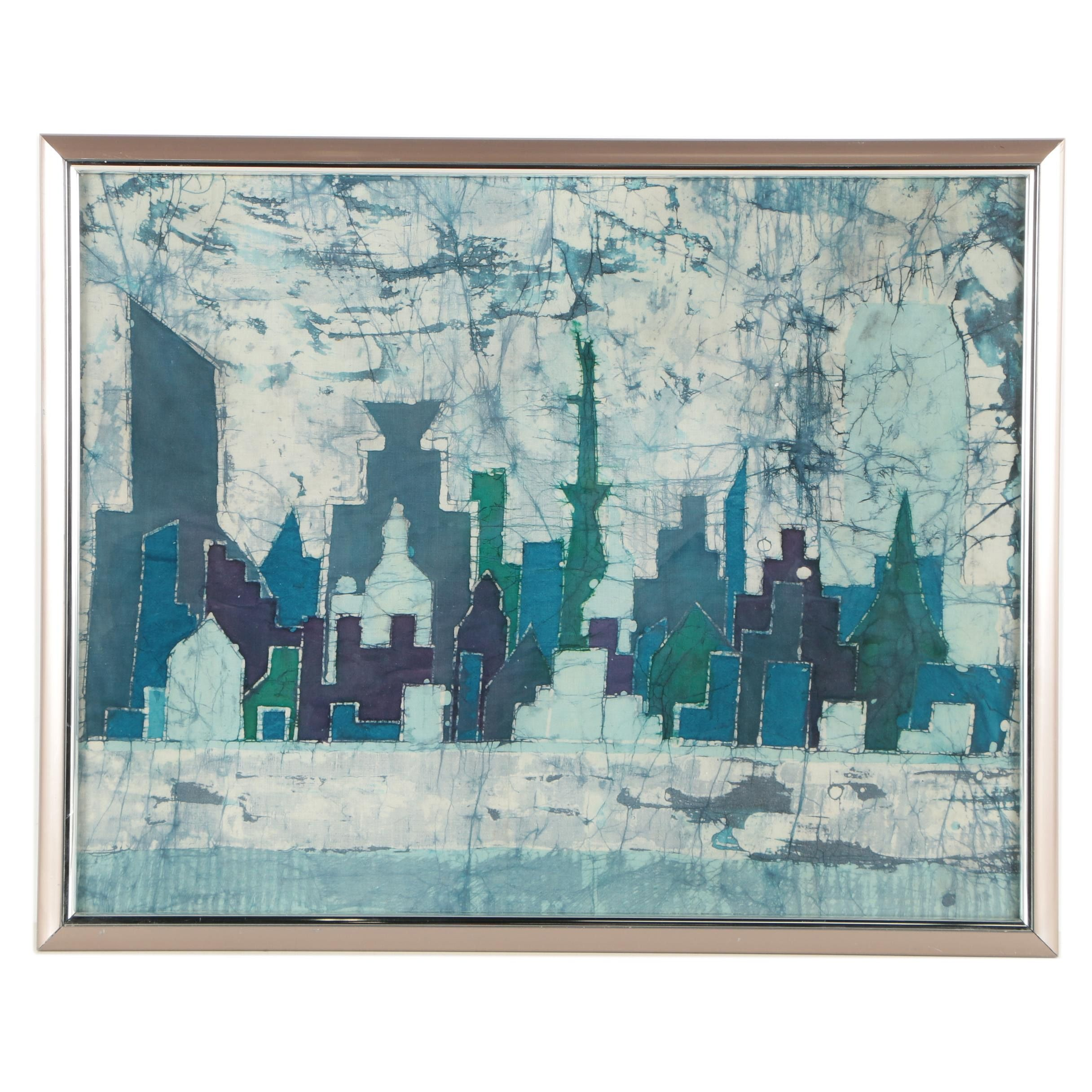Batik of Abstract City Skyline