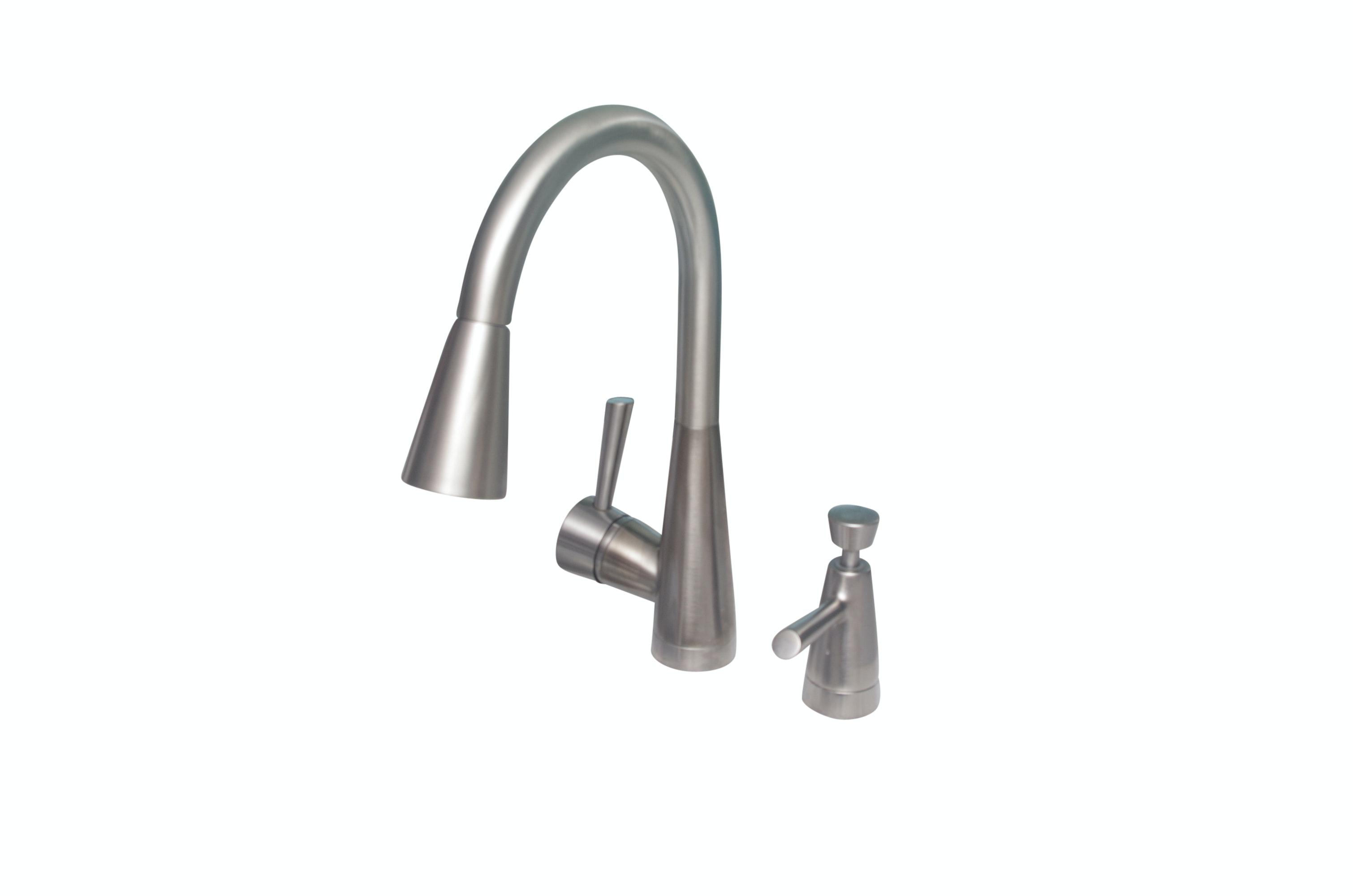 Brizo Venuto Model 63070LF SS Kitchen Faucet With Soap Dispenser ...