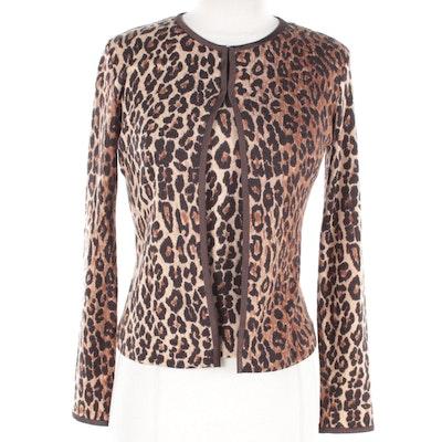 Dolce & Gabbana Leopard Print Sweater Set