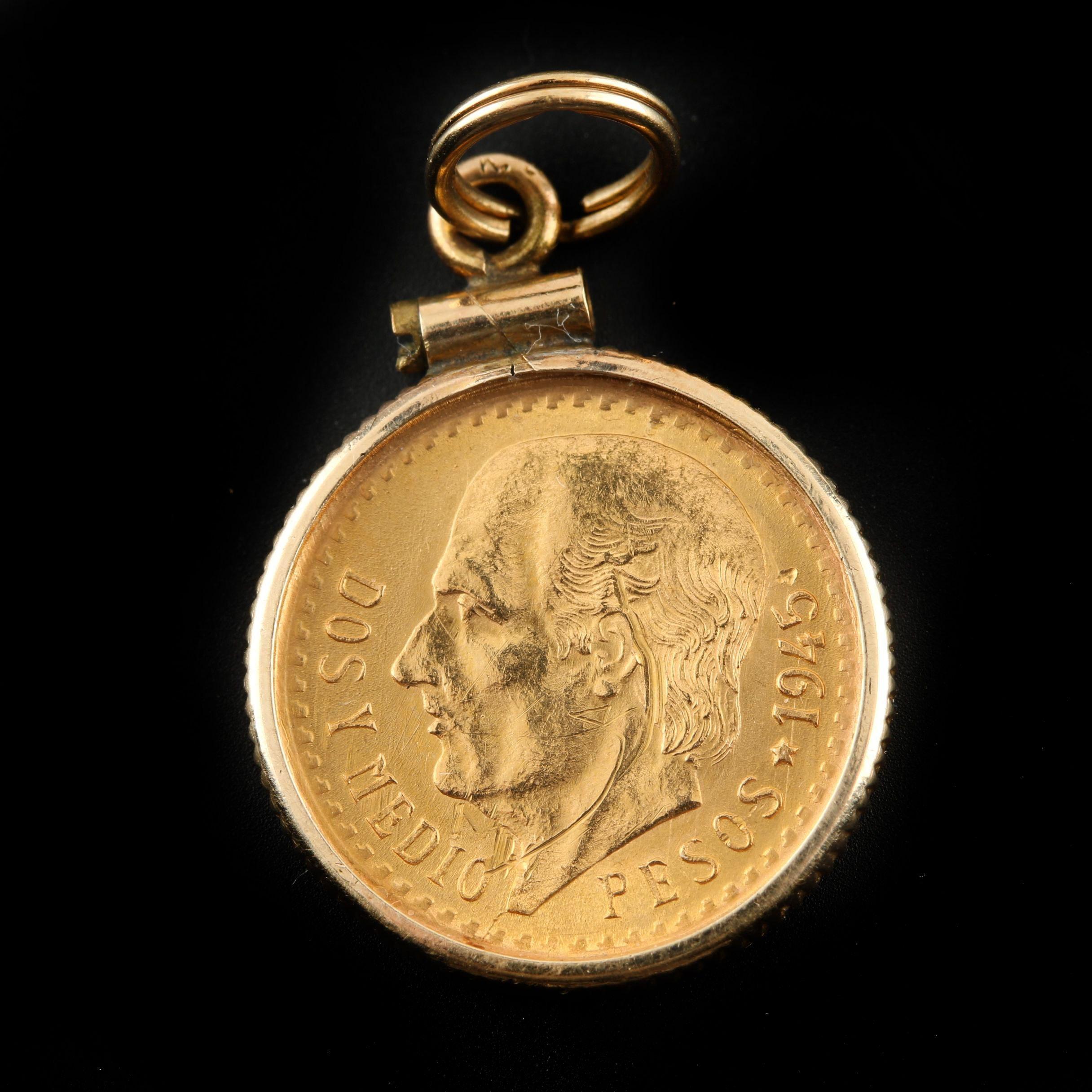 1945 Mexican 2 1/2 Peso Gold Coin