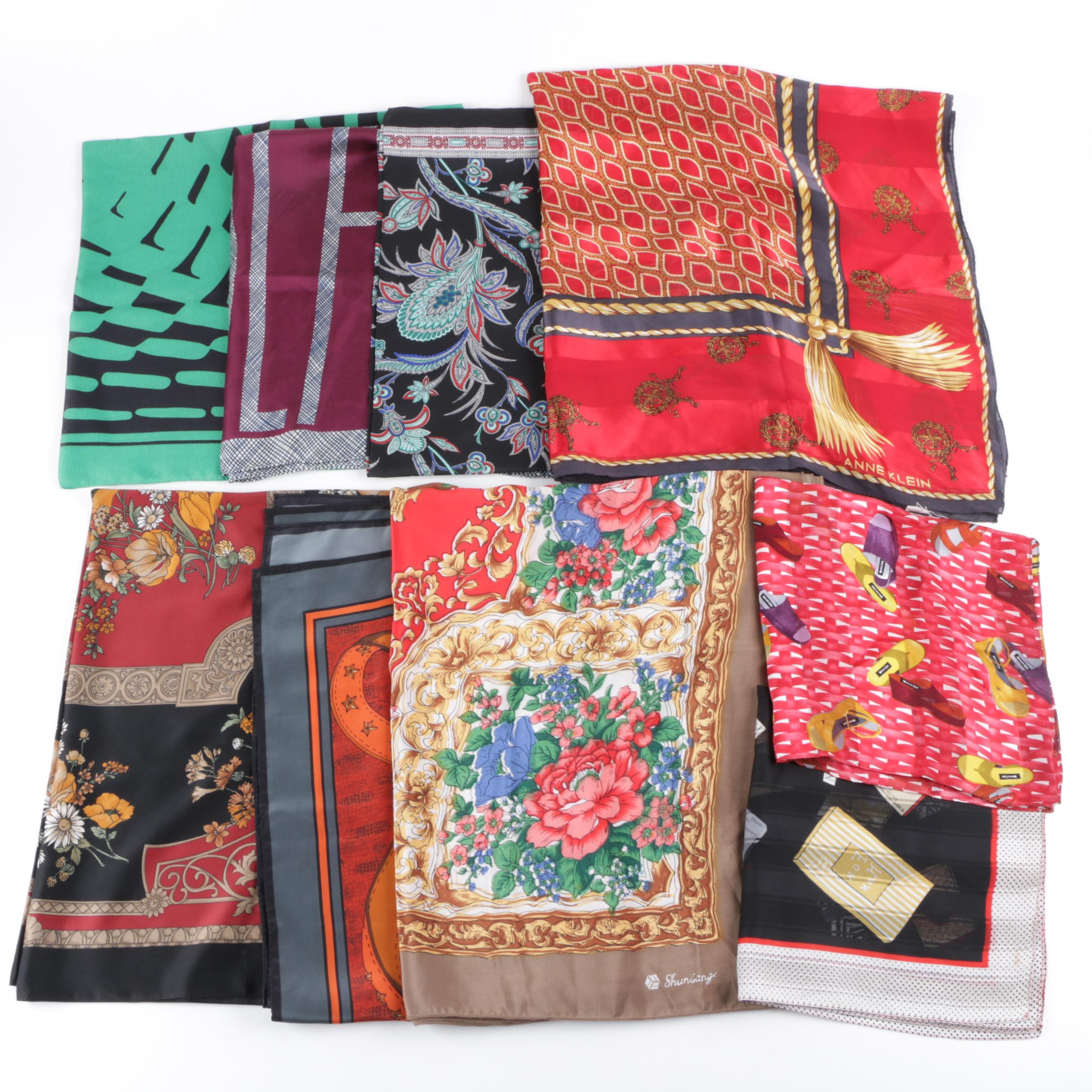 Scarf Collection Including Silk, Bill Blass and Anne Klein Scarves
