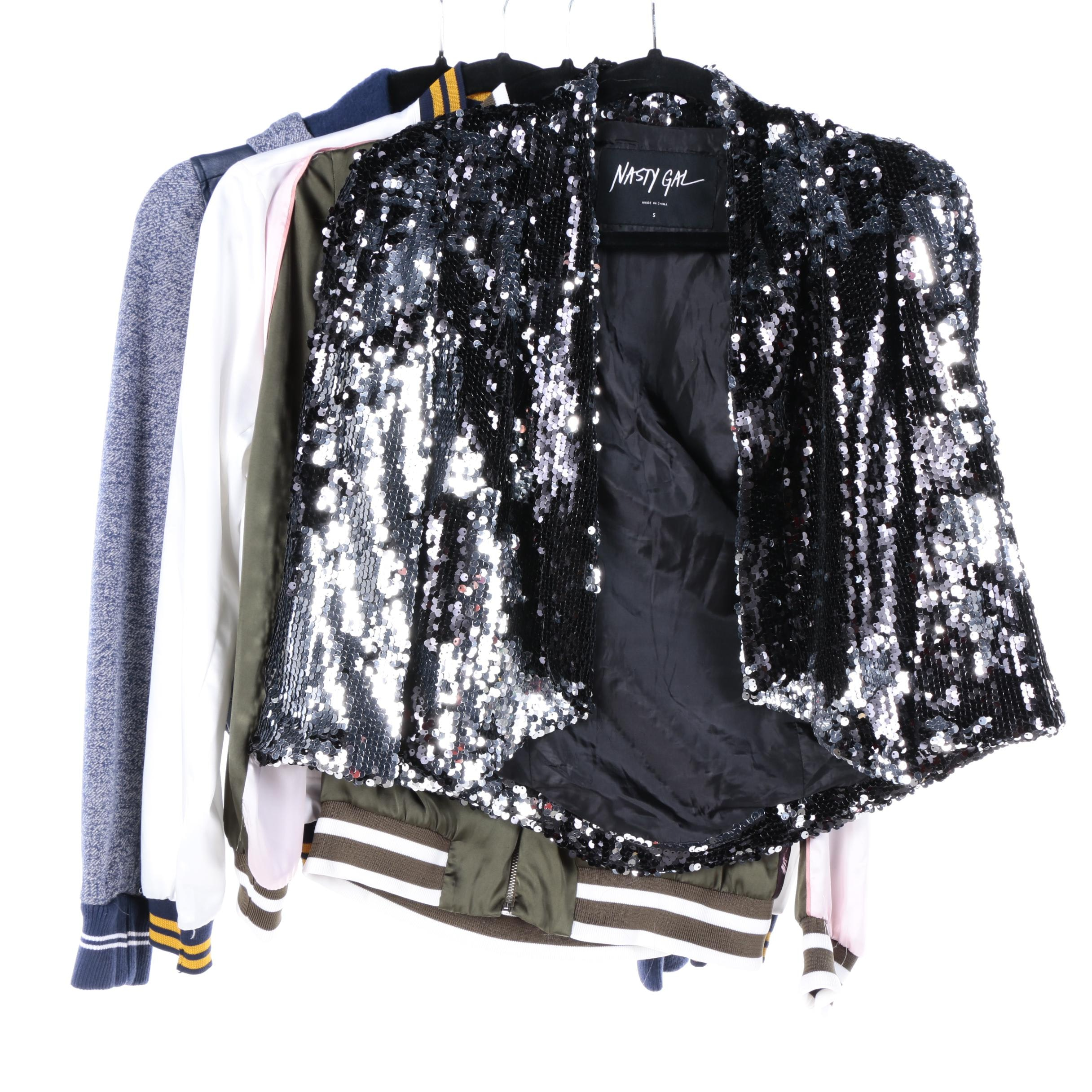 Women's Casual and Sequined Jackets Including Nasty Gal and LA Hearts