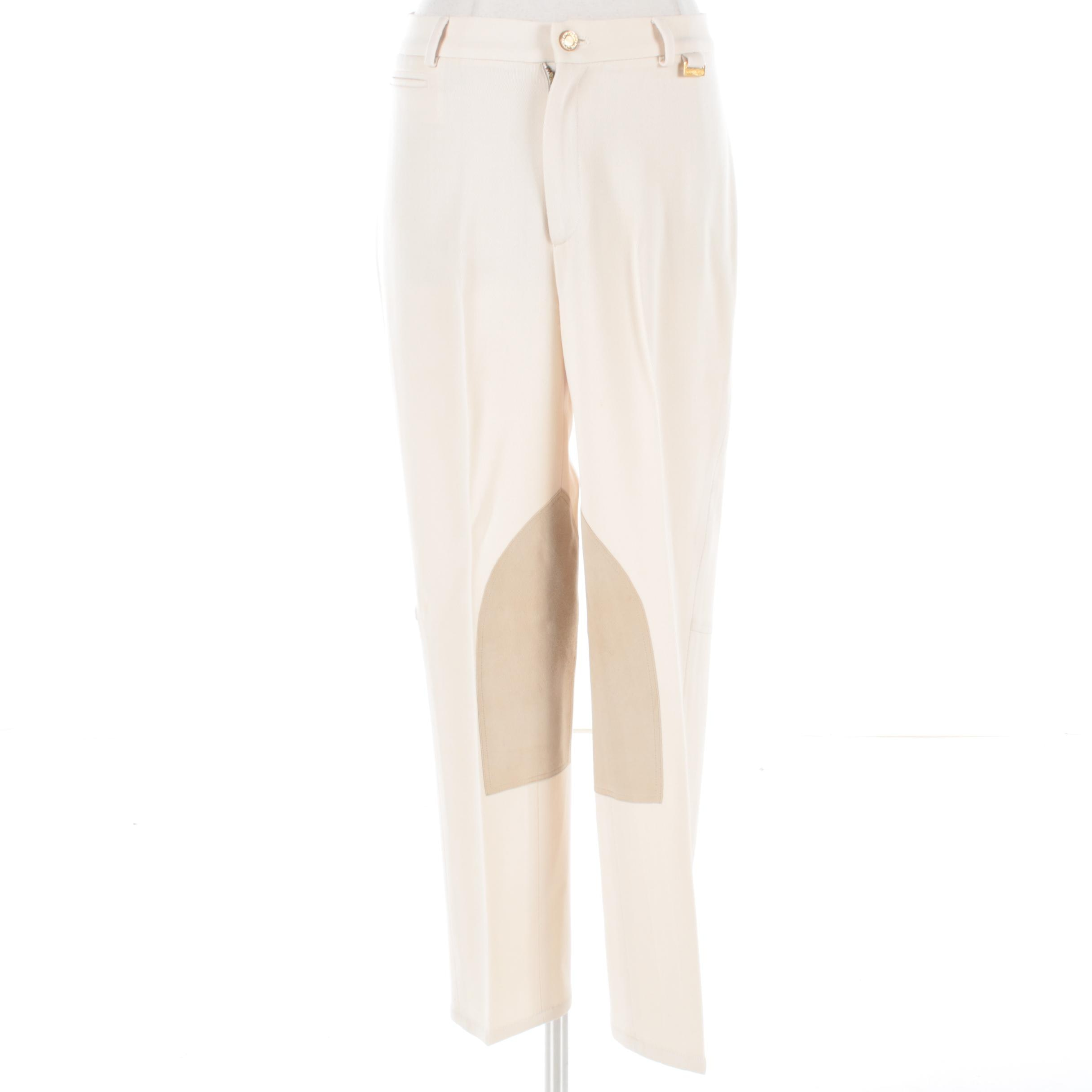 Women's Ralph Lauren Cream Jodhpur Style Pants