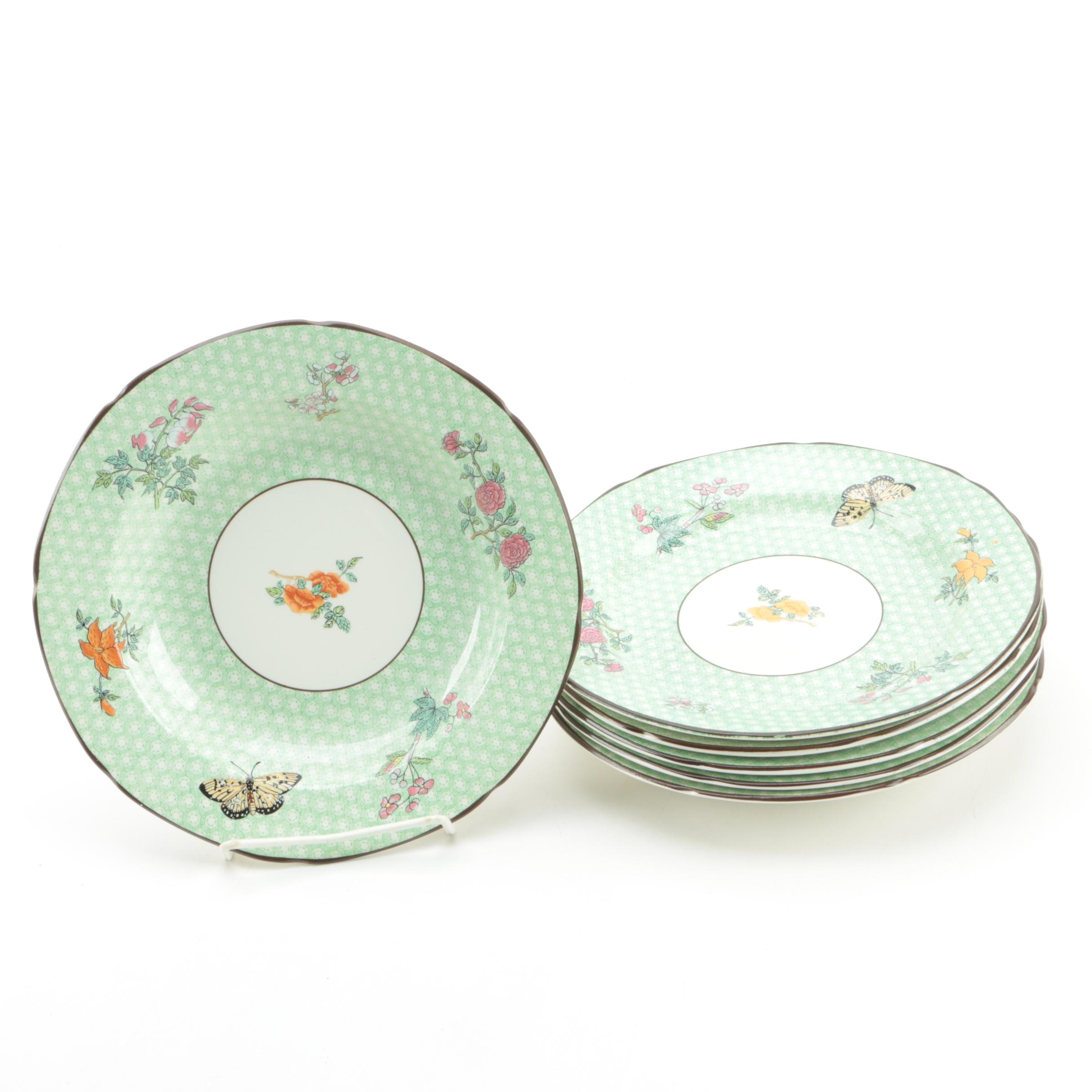 Mottahedeh  Cornelia Green  Salad Plates with Wall Hangers ...  sc 1 st  EBTH.com & Mottahedeh