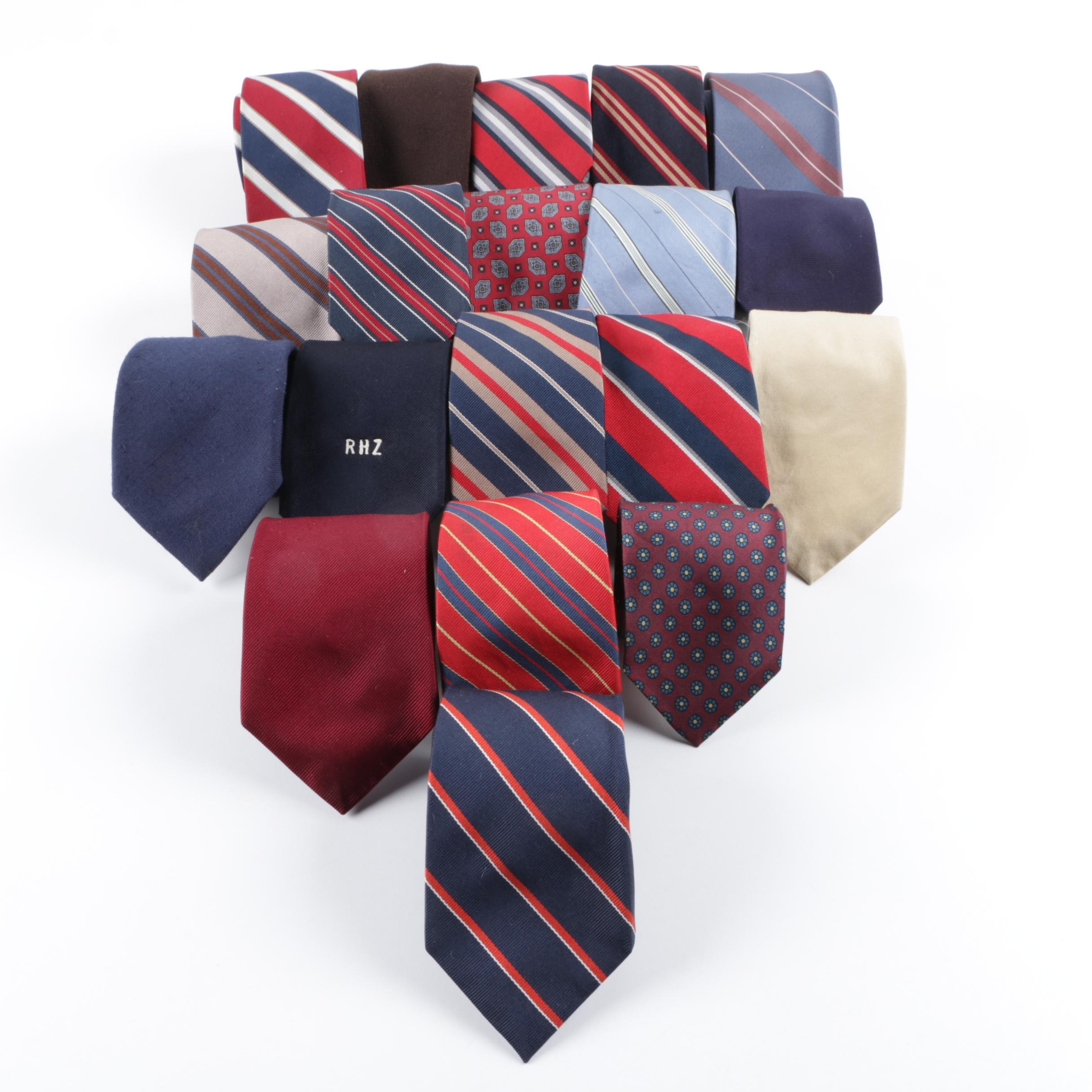 Collection of Ties Including Horchow and Silk