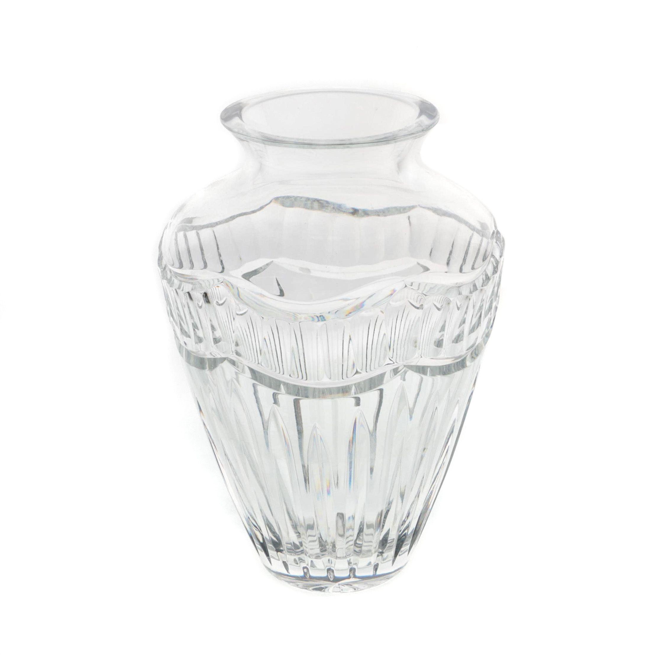 """Waterford Crystal """"Pompeii"""" Vase"""