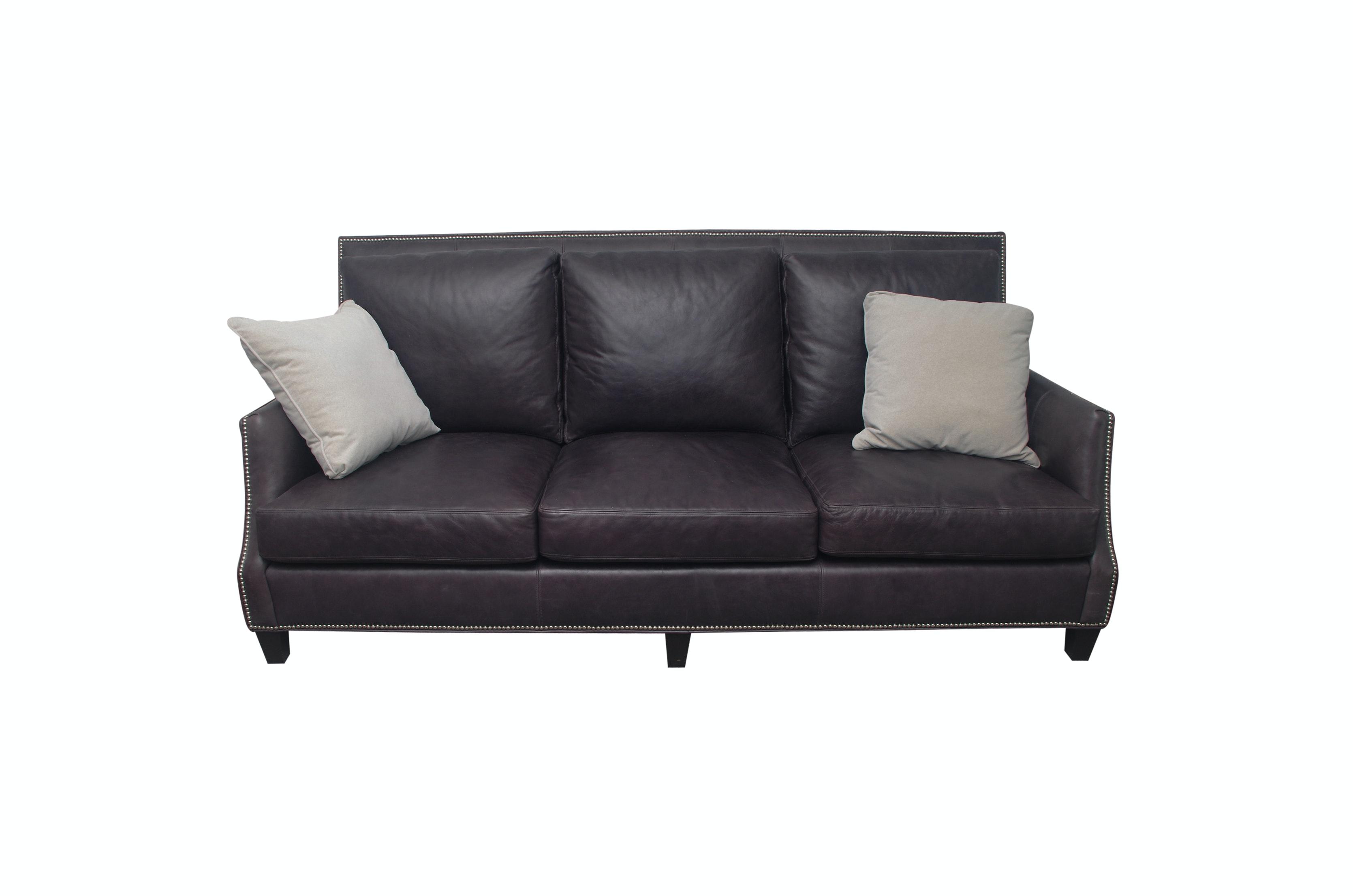 Arhaus Contemporary Leather Sofa